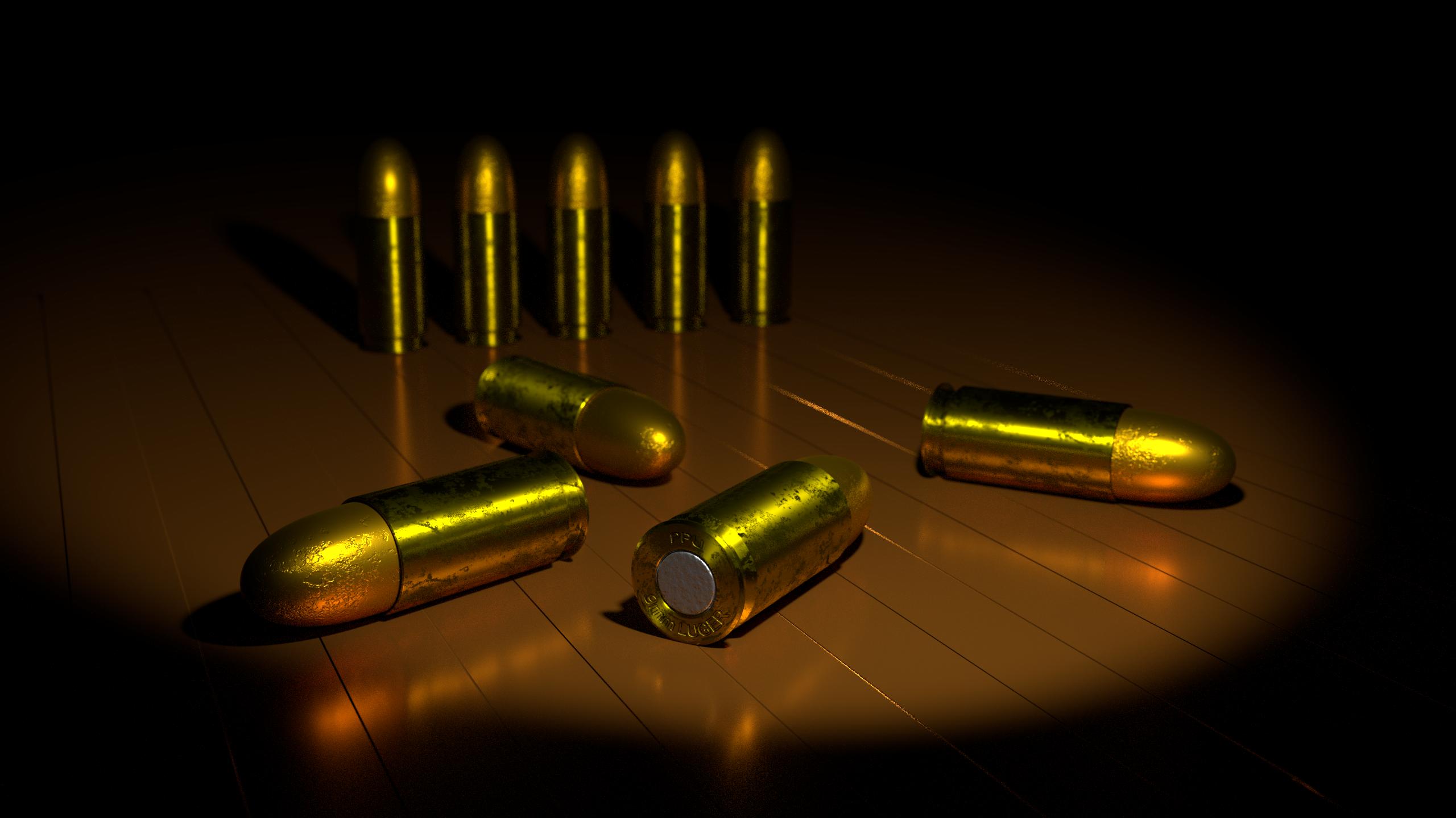9mm Luger Parabellum Bullets