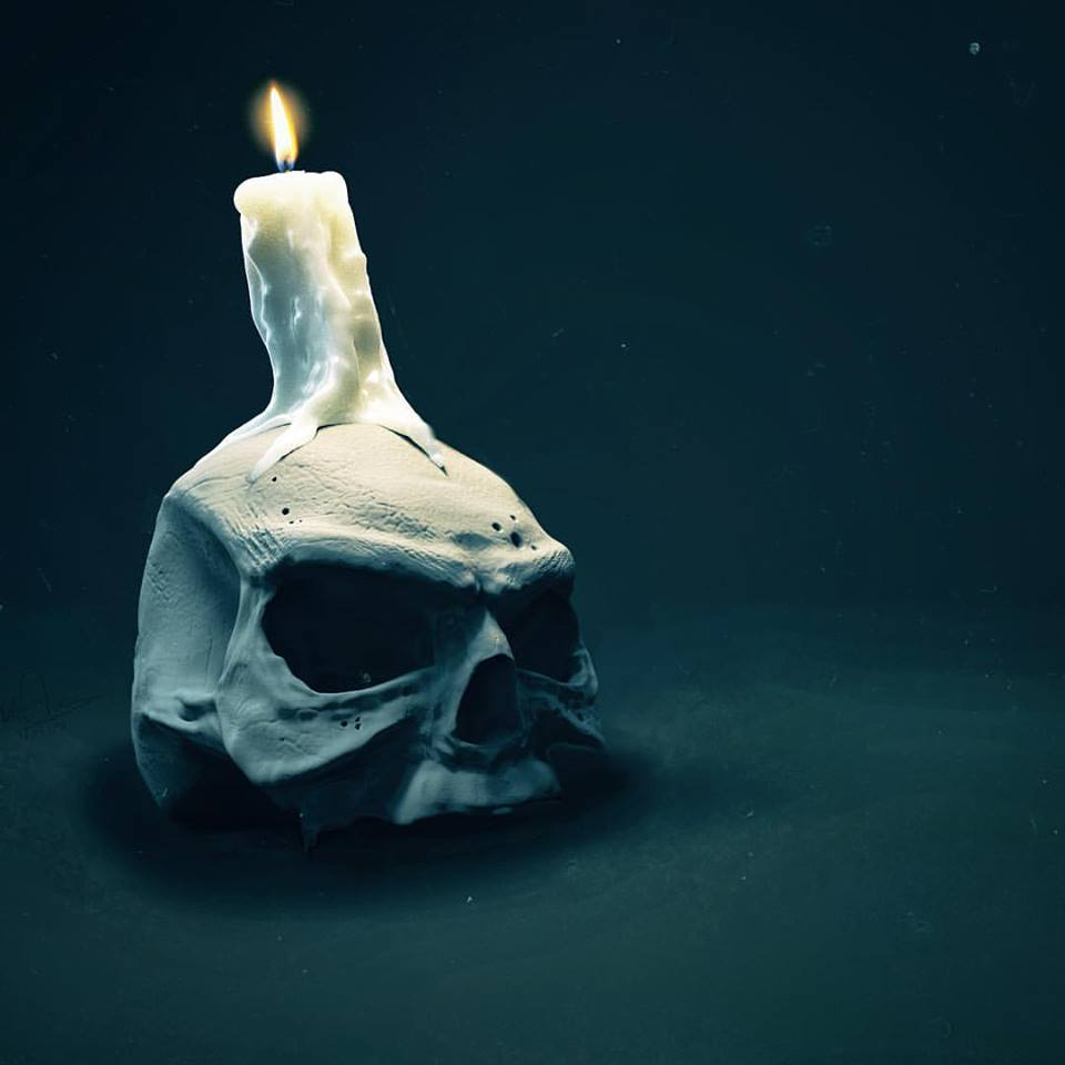 The Candle on the skull