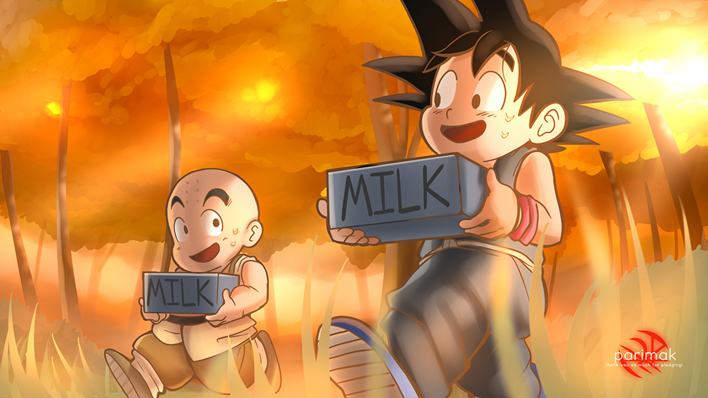 Goku and Krillin in Training!