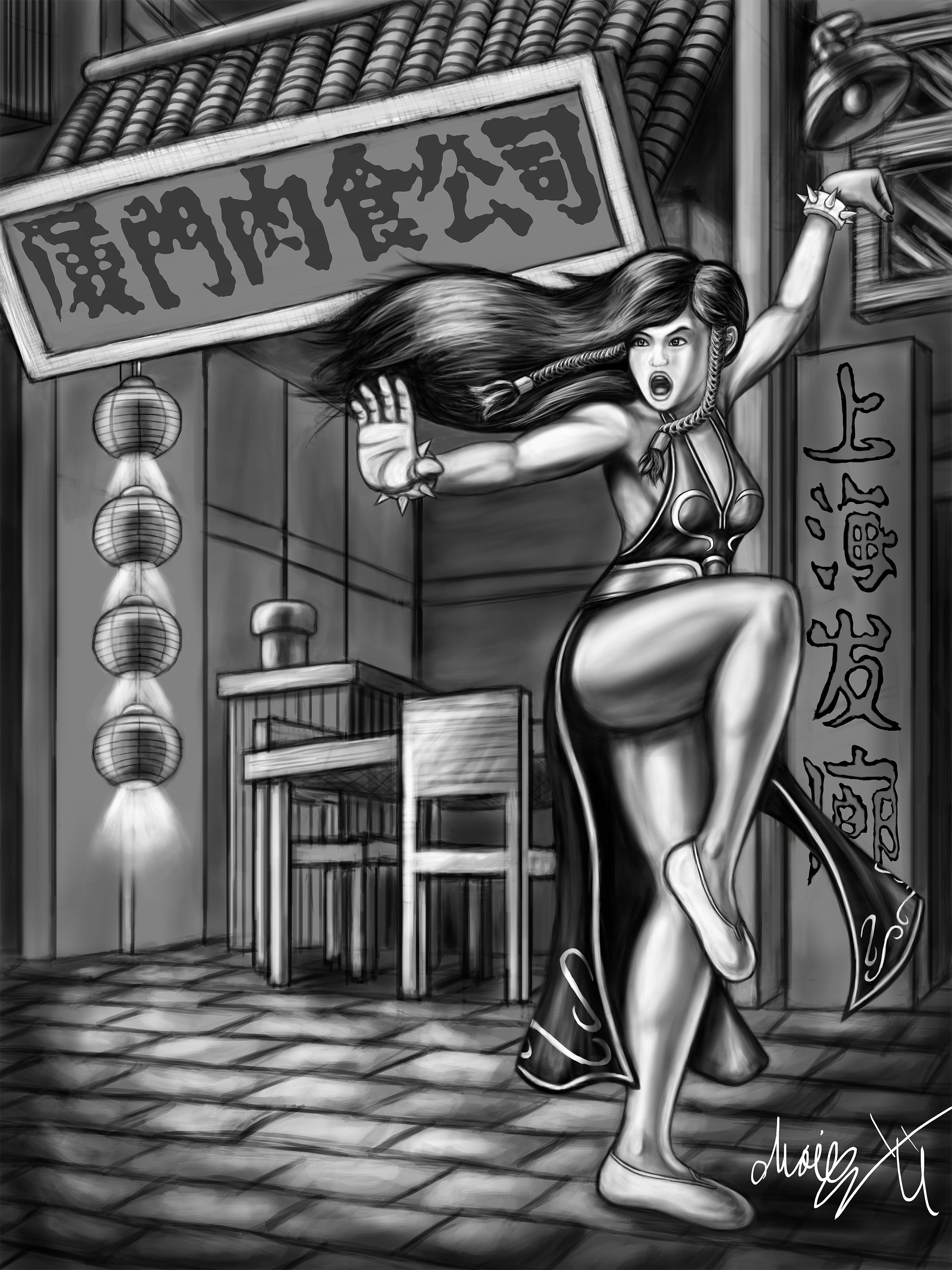 Uncolored Street Fighter V Chun Li Dress