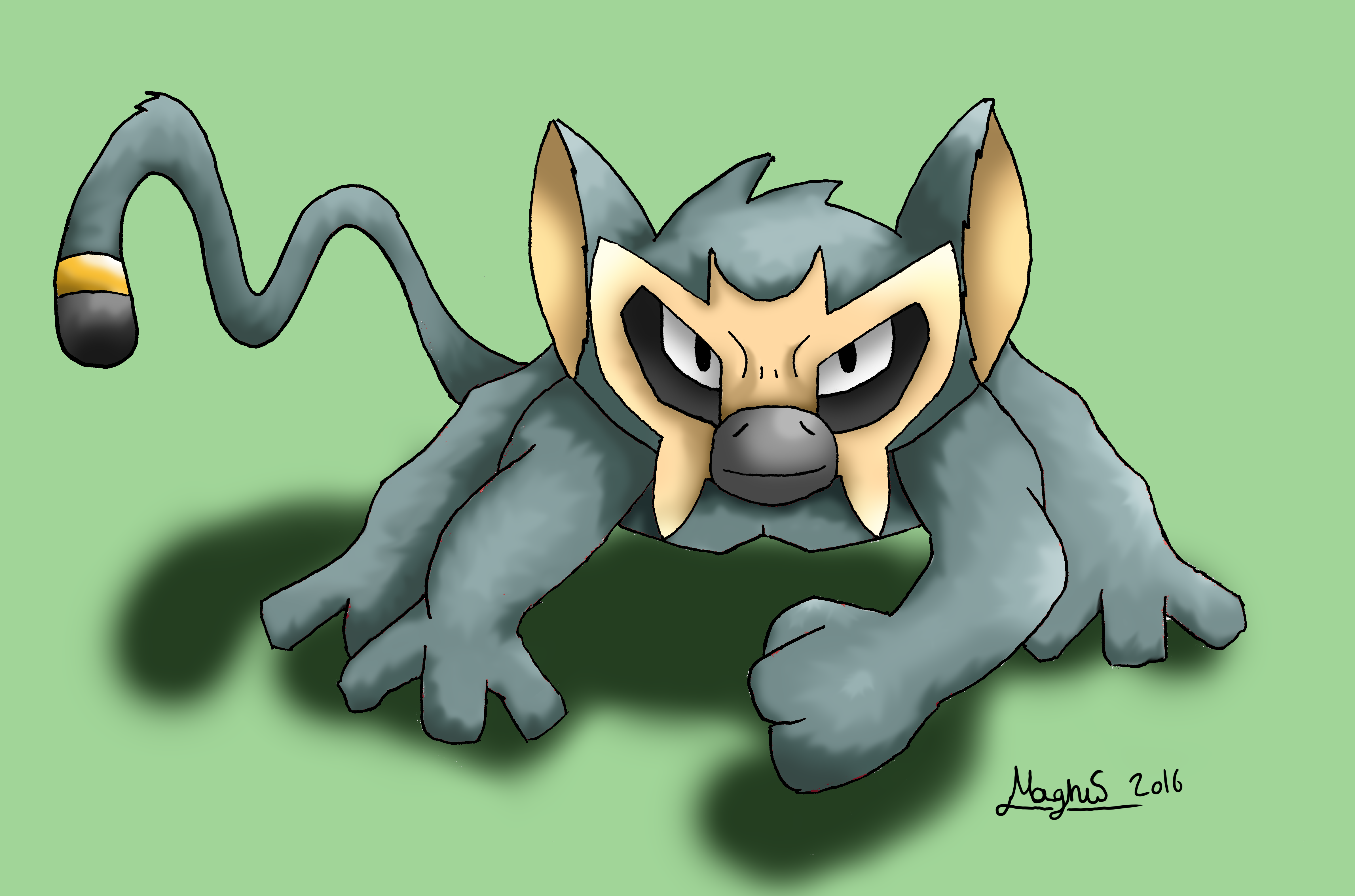 my old fakemon drawing