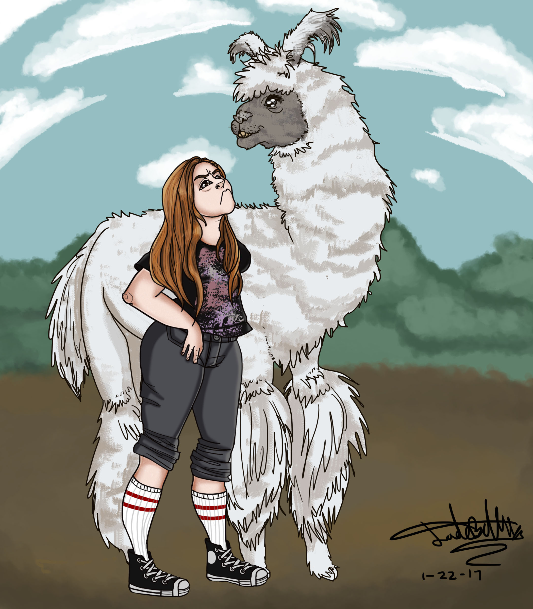 Me n Llama (Art trade with LegolaSS)