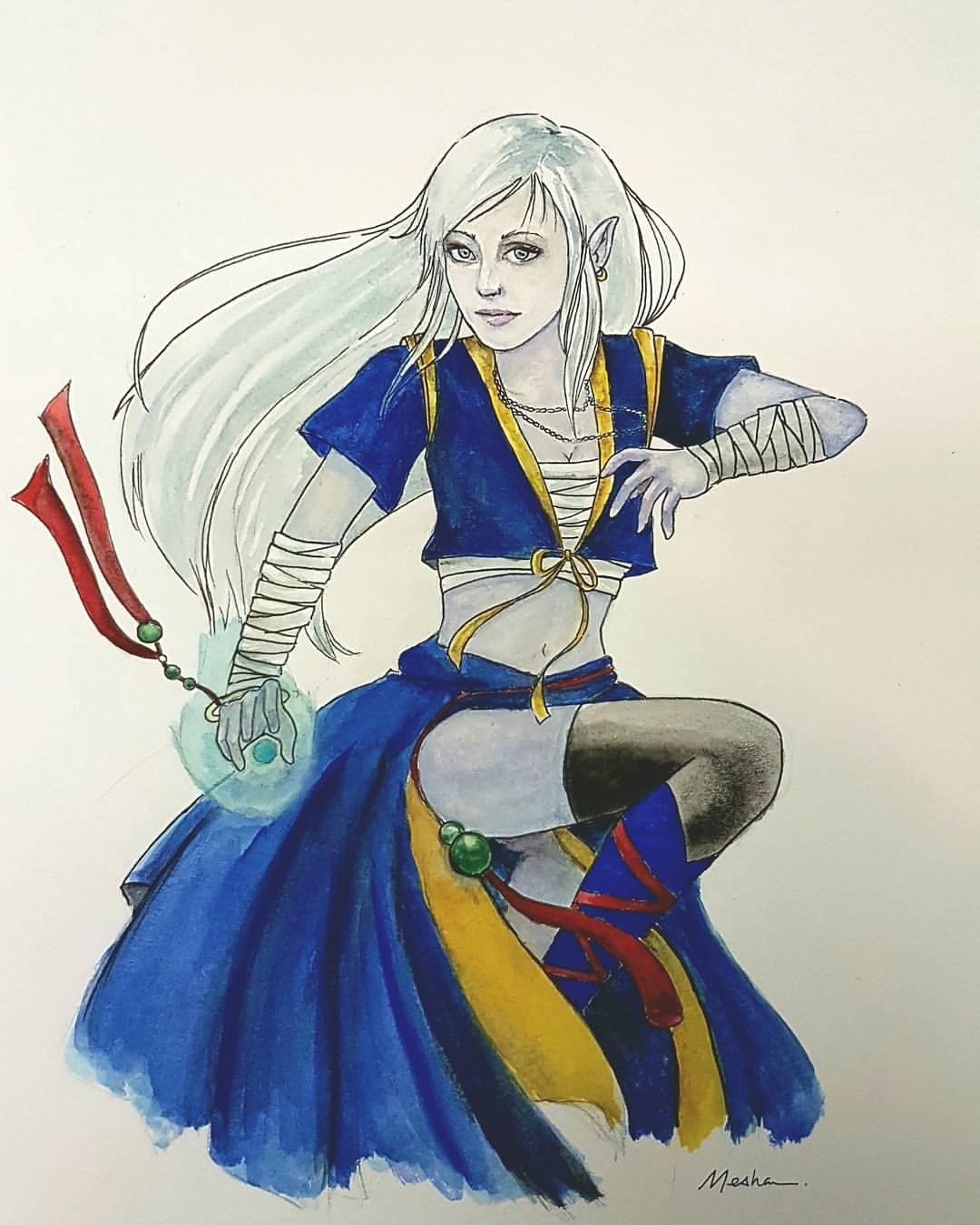 D&D: Moon Elf Monk
