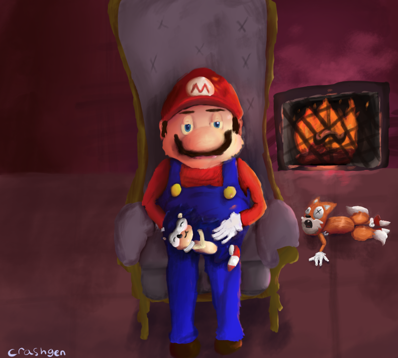 Mario collab painting