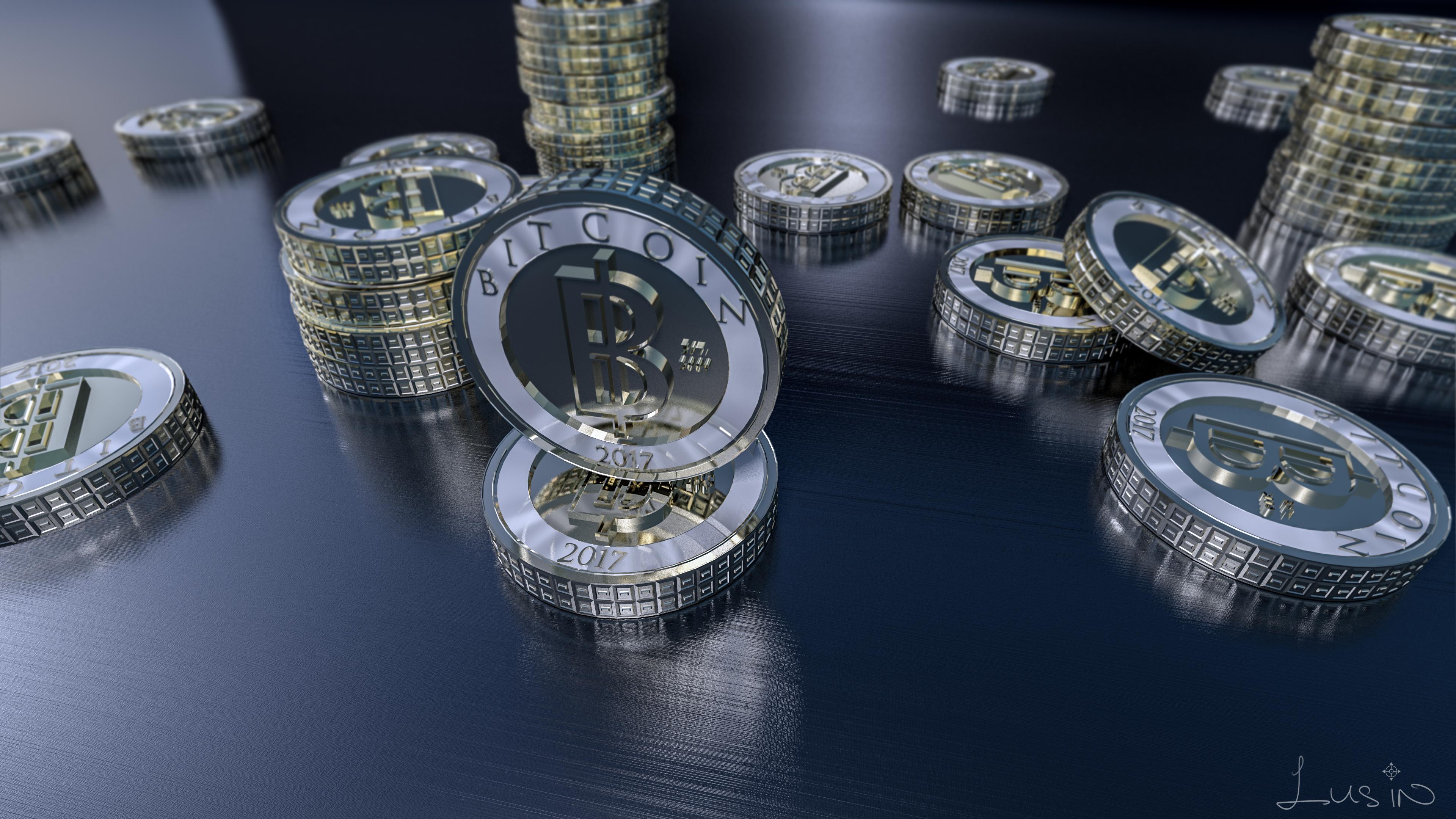 3D Bitcoin Wallpaper