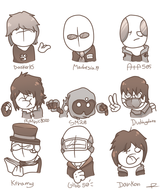 Some draws of cool peeps (Except me :y)