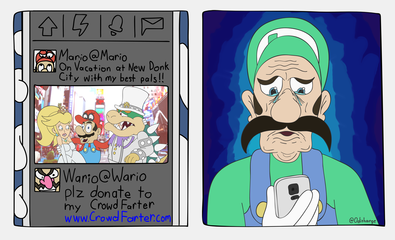 Luigi Never gets Invited... :(