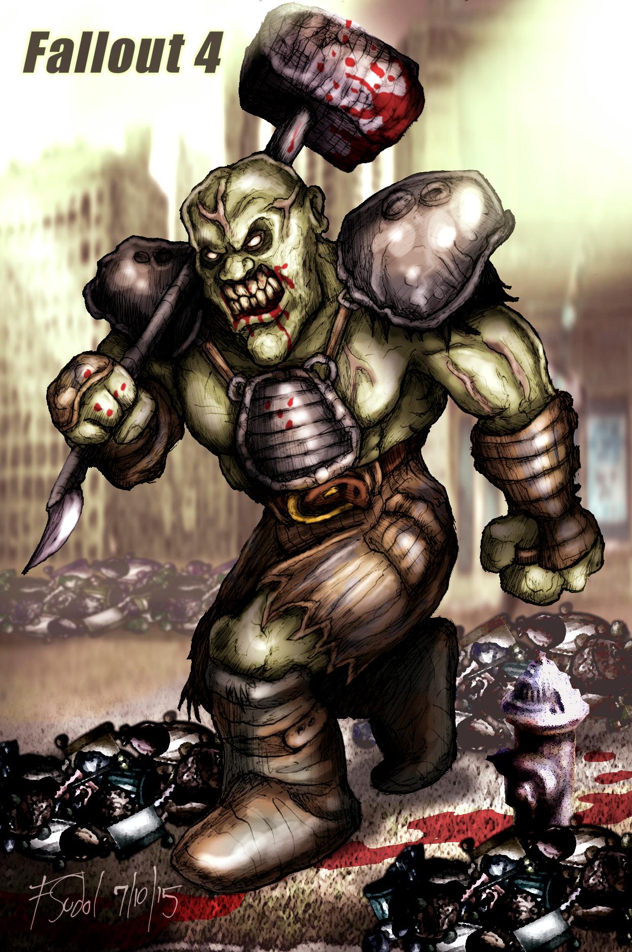 Super Mutant Fallout Fan Art