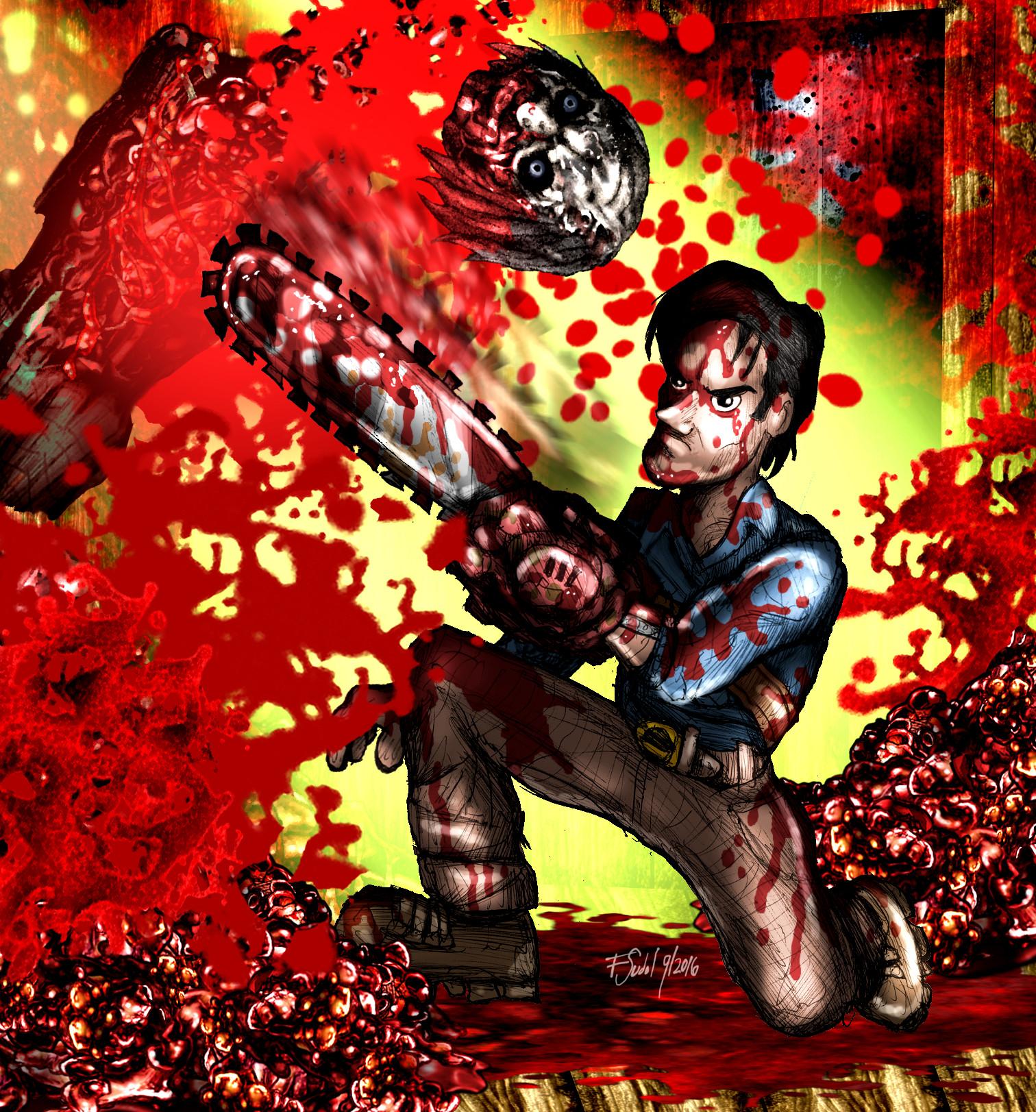 Ash, Evil Dead Fan Art