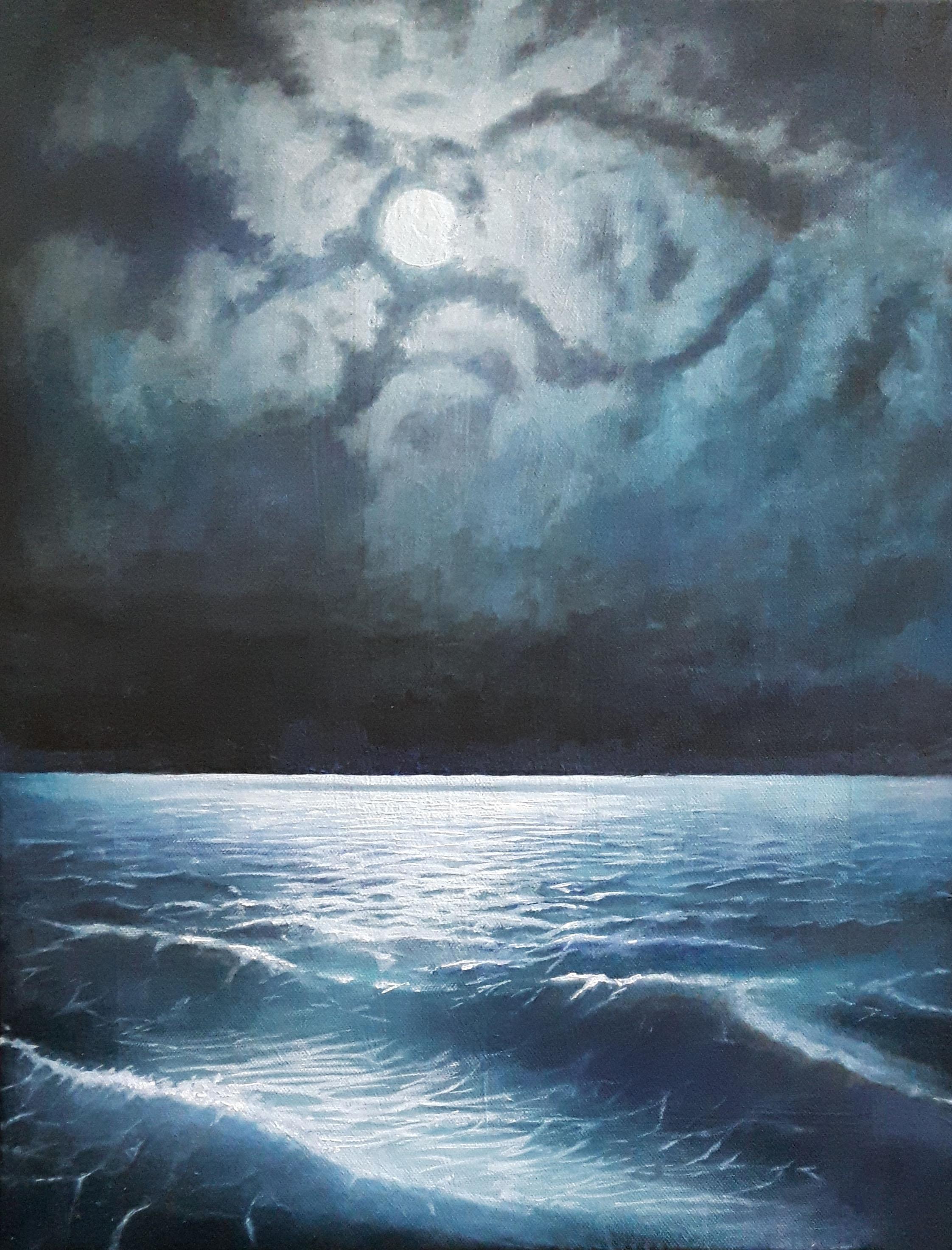 "Study of ""The Black Sea at night"""