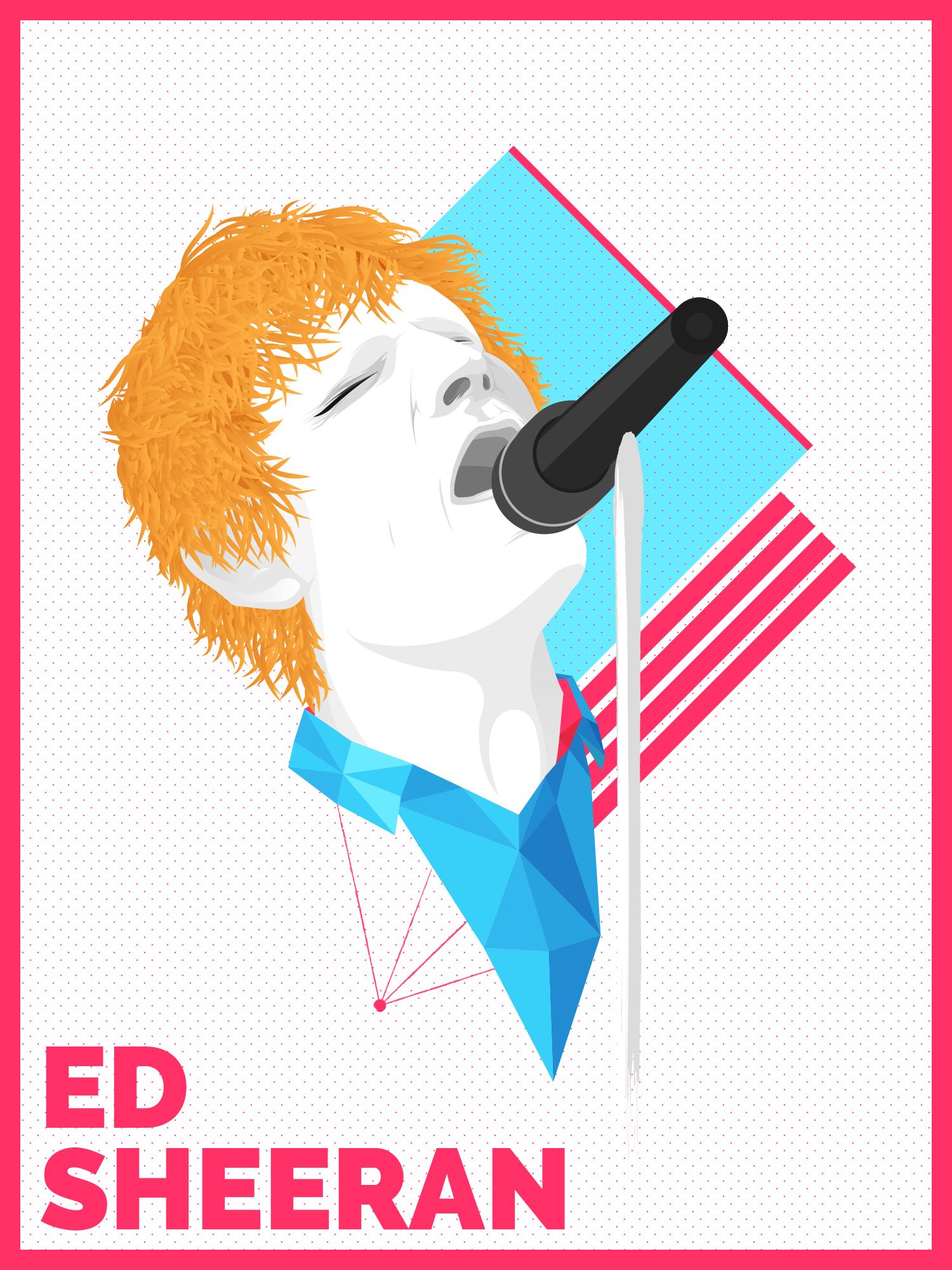 Ed Sheeran | Vector Portrait
