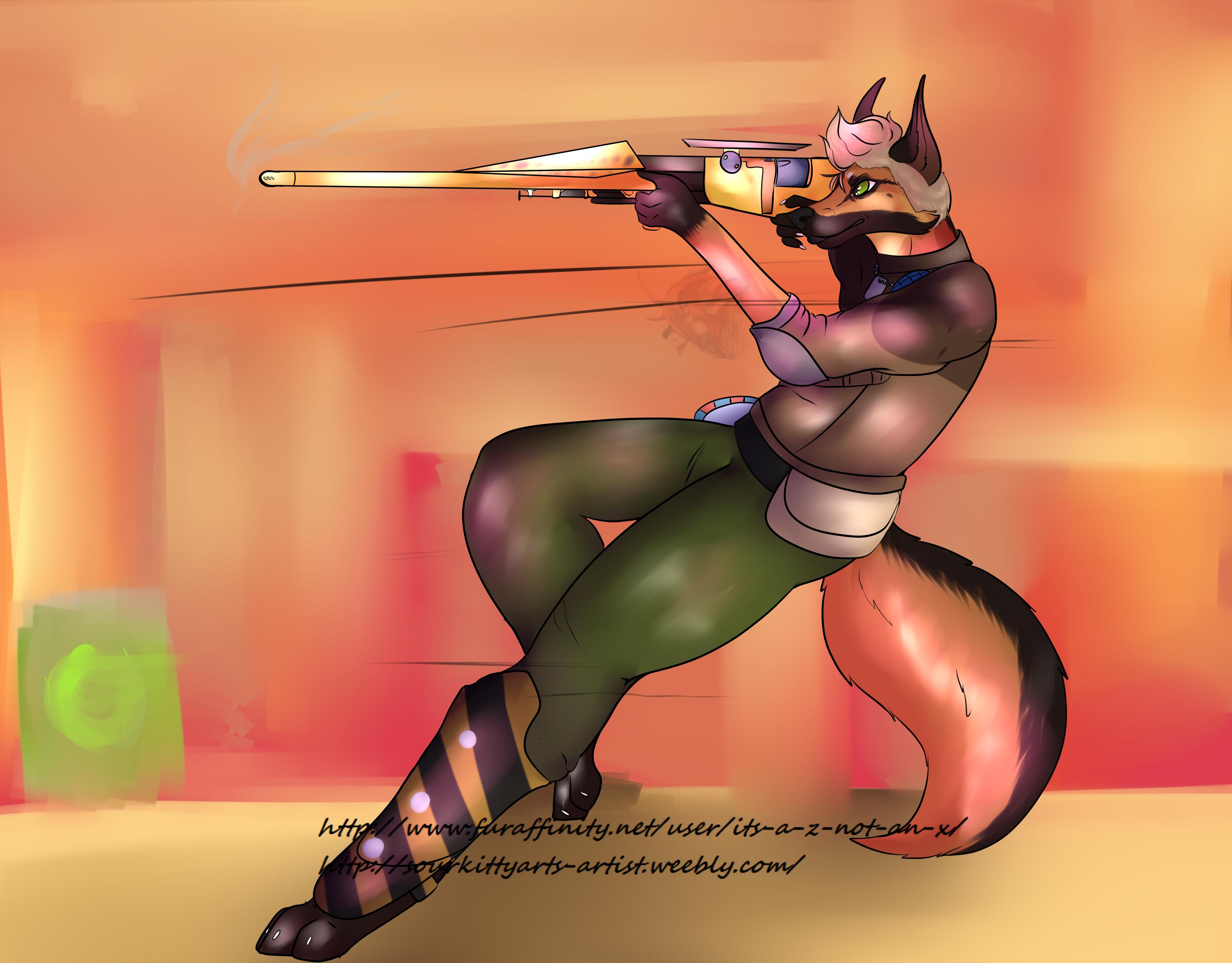 Axton as the Commando