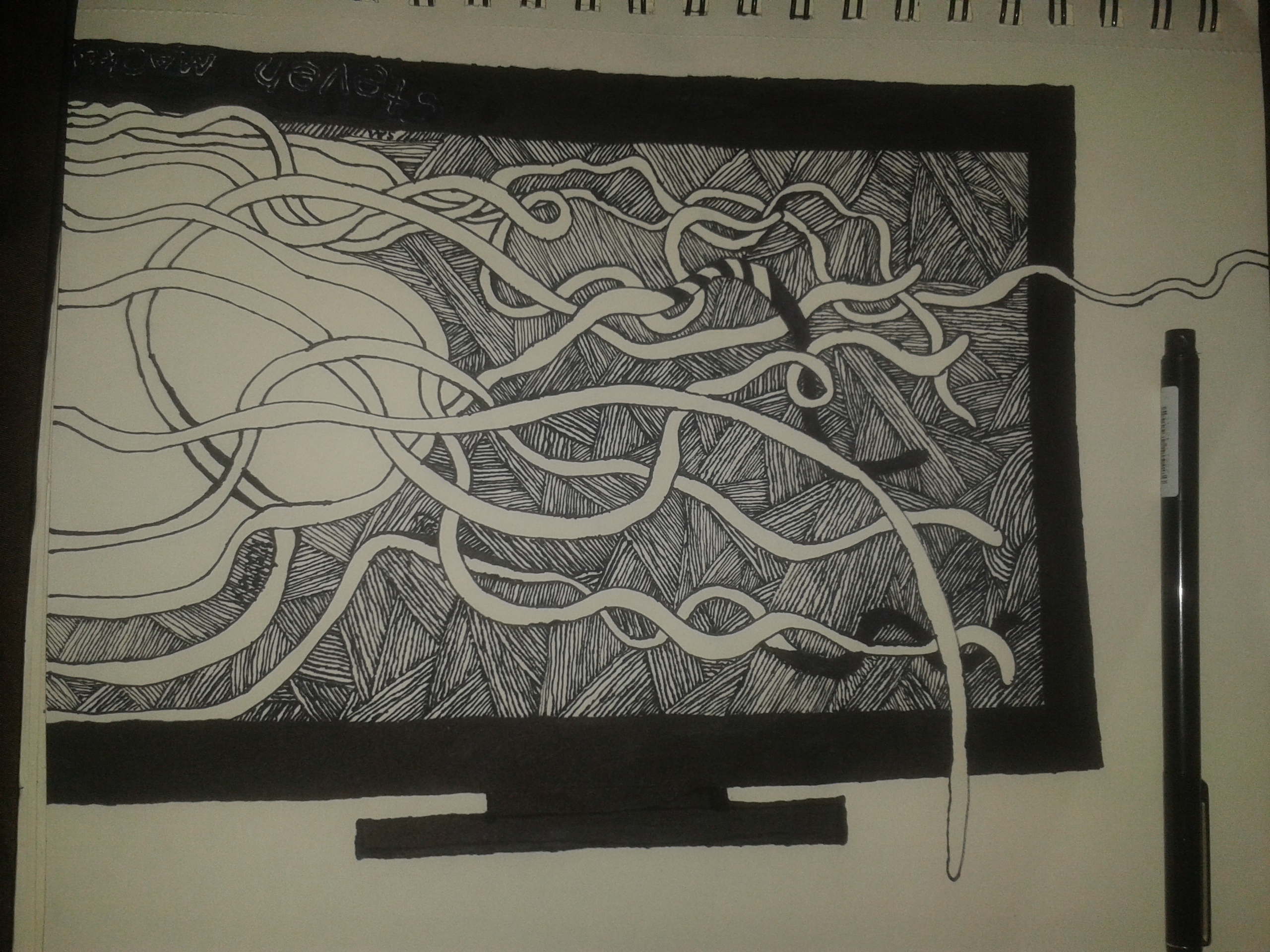 tentacle drawing