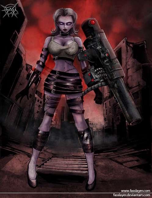 Zombie bazooka girl