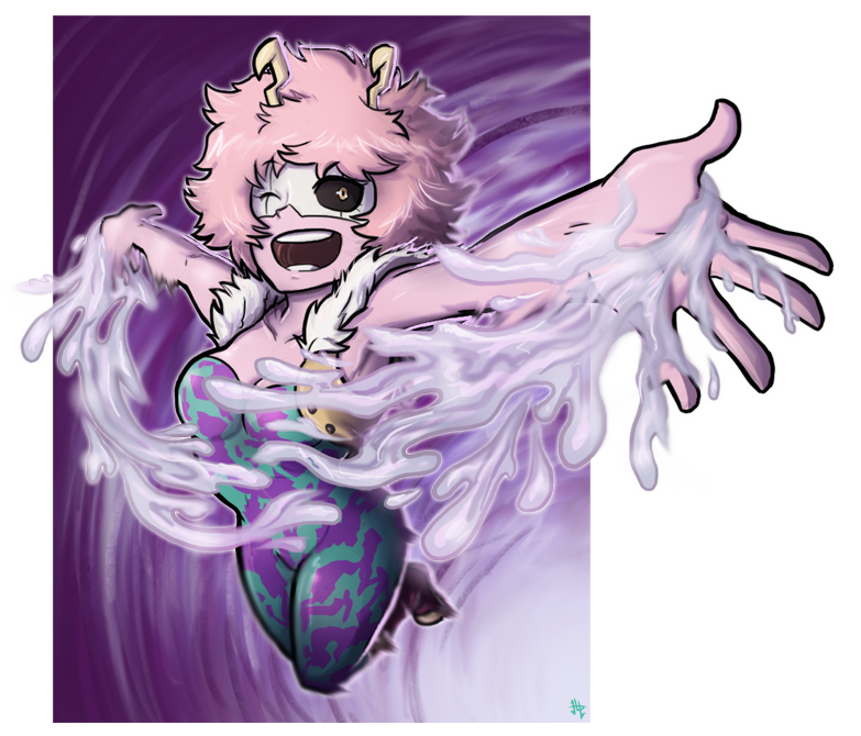Mina Ashido - BnHA Action Shot