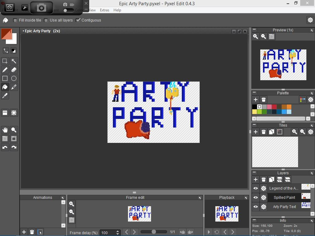 Epic Arty Party Finished In Program