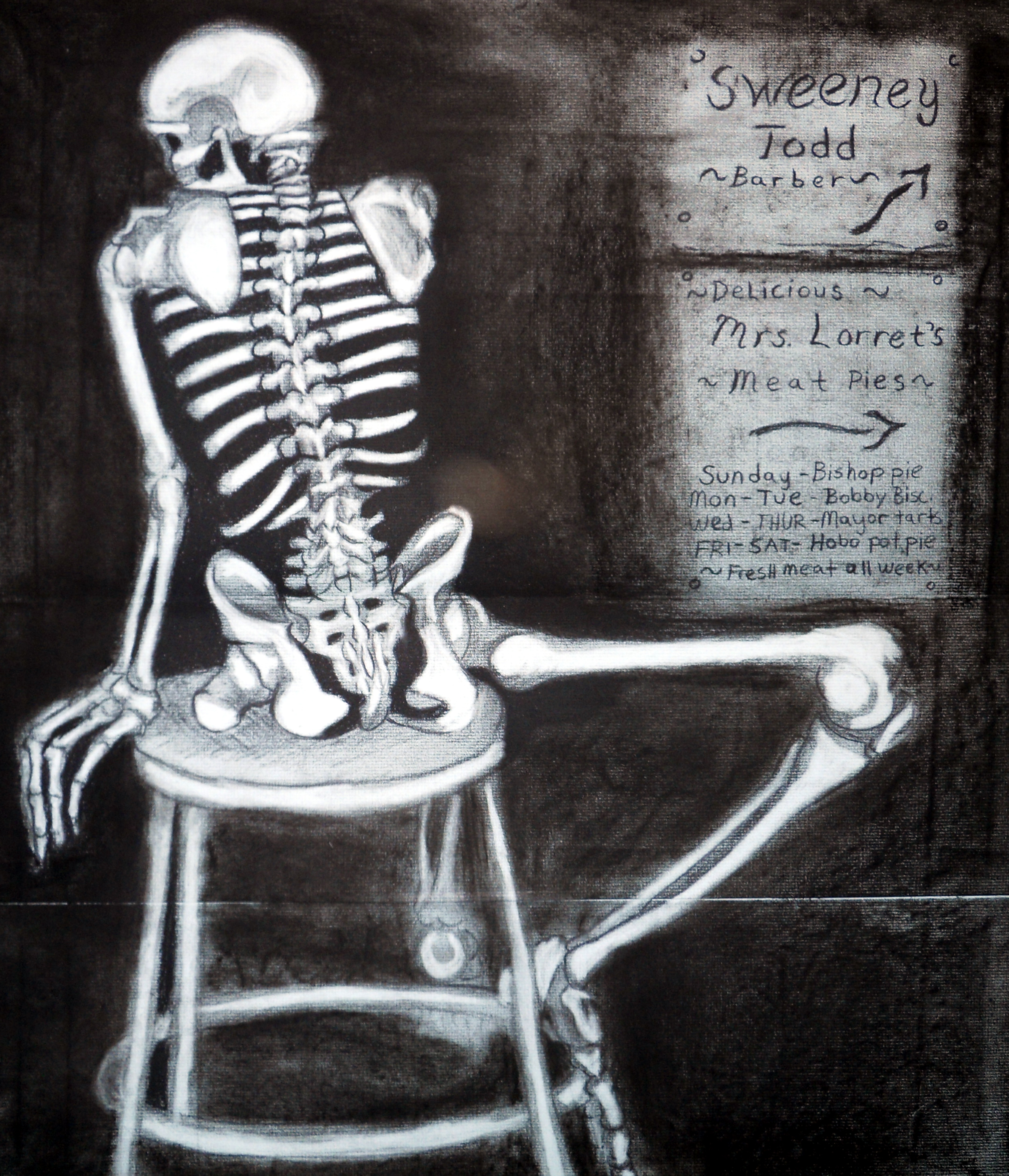 Sweeney Todd Skeleton - A Macabb Study
