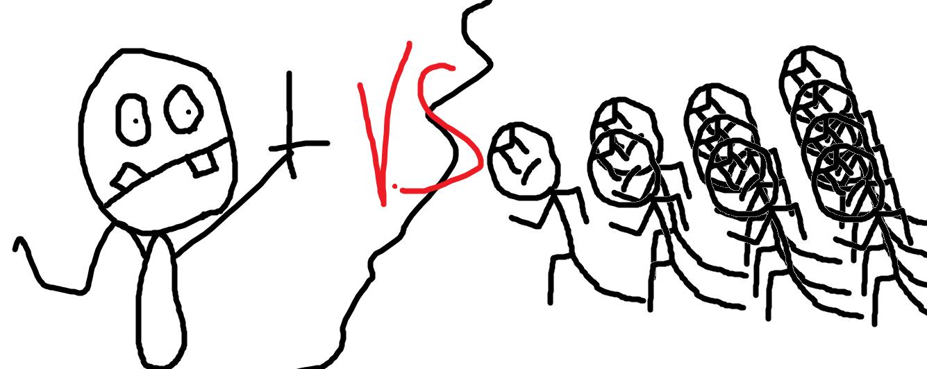 Demon Goblin vs. the clone army