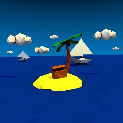 Low-Poly Treasure Island