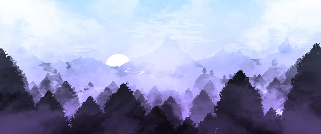 / Landscape Illustration 5 // Twilight /