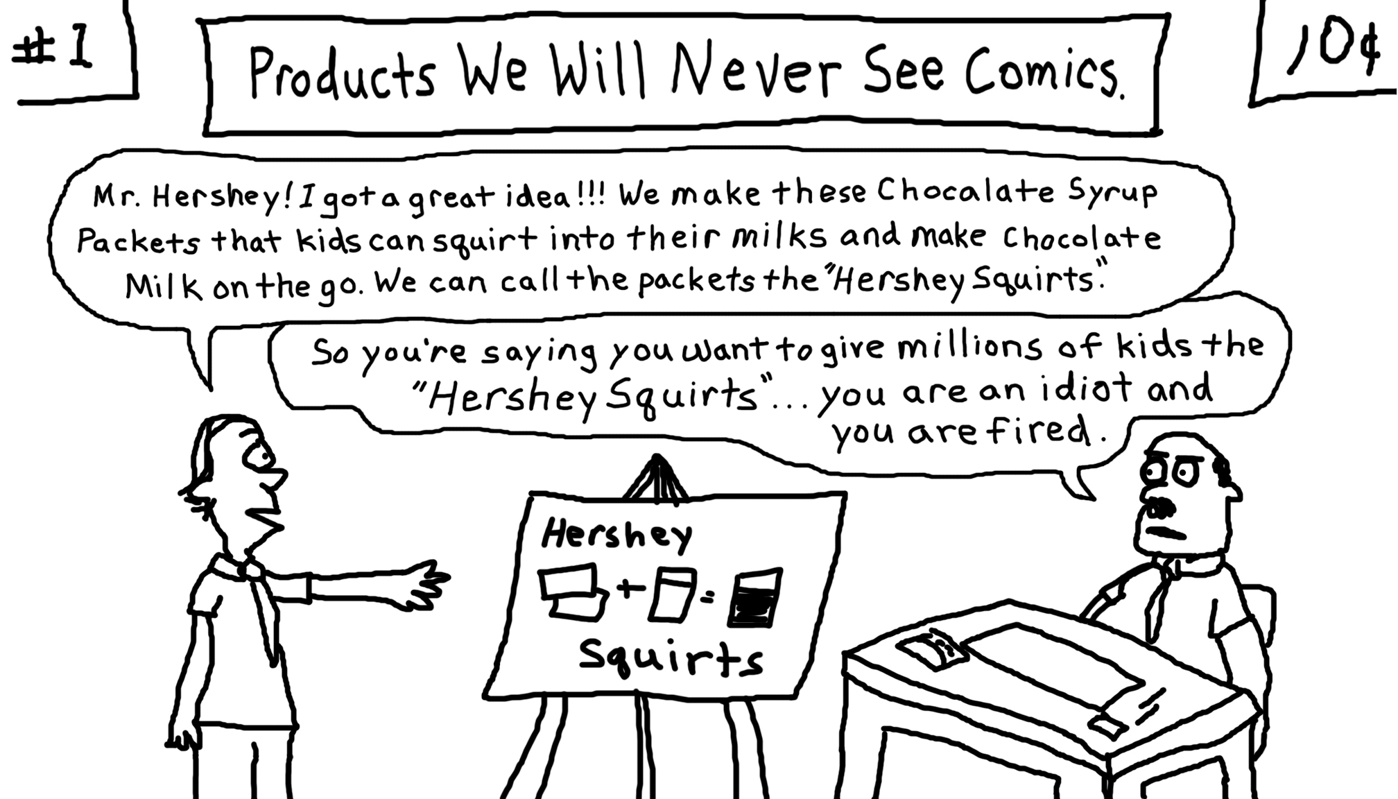 Hershey squirts.