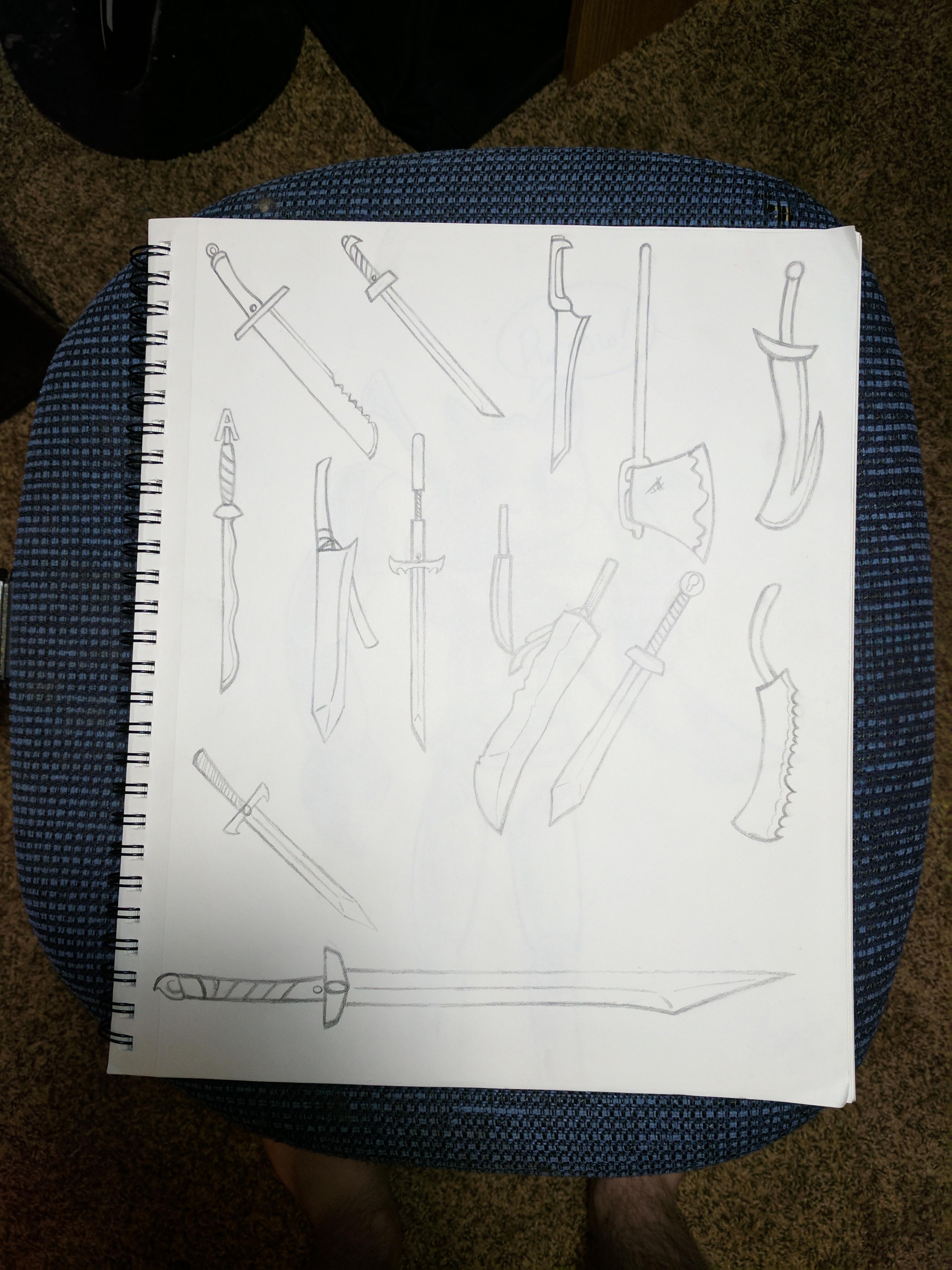 Sword Doodle Page