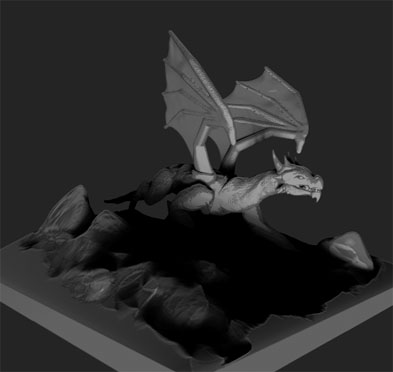 Dragon 3D Render