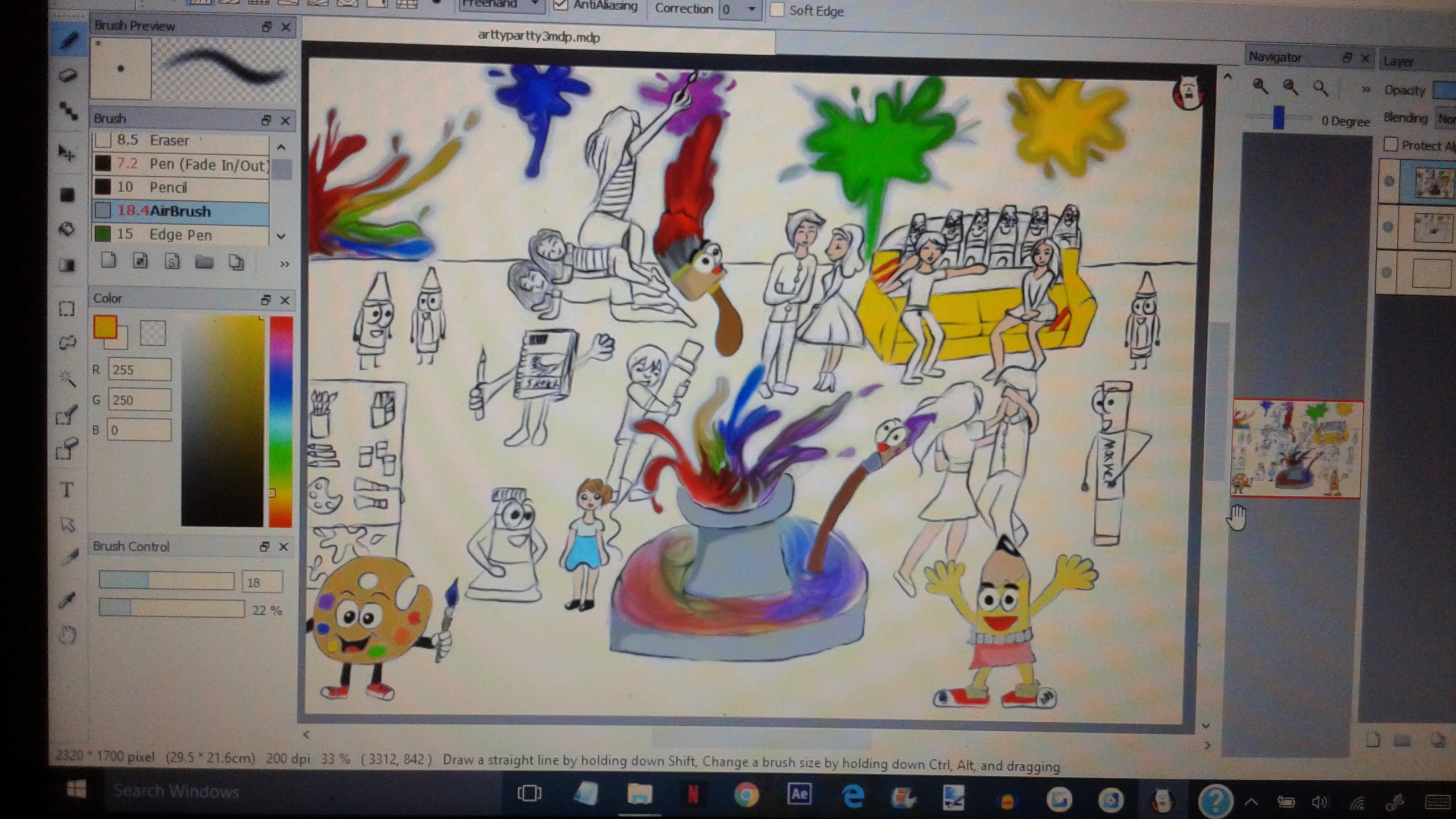 arty party progress pic 2
