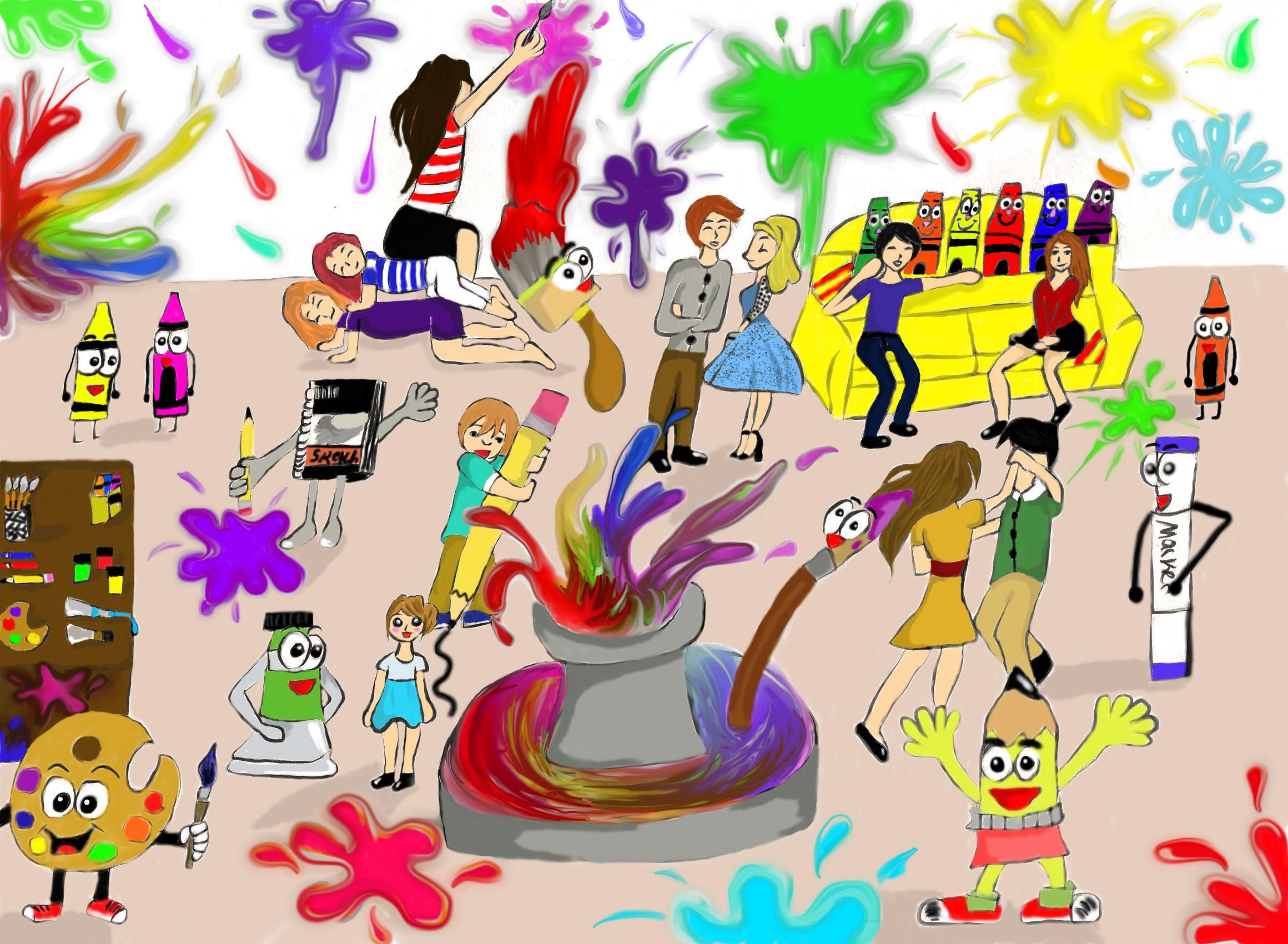 Epic Arty Birthday party
