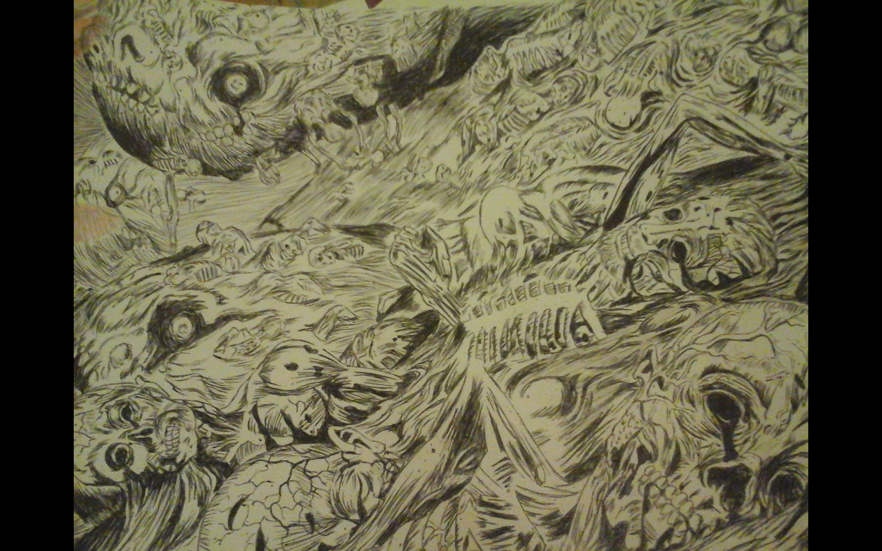 A sea of dead bodies
