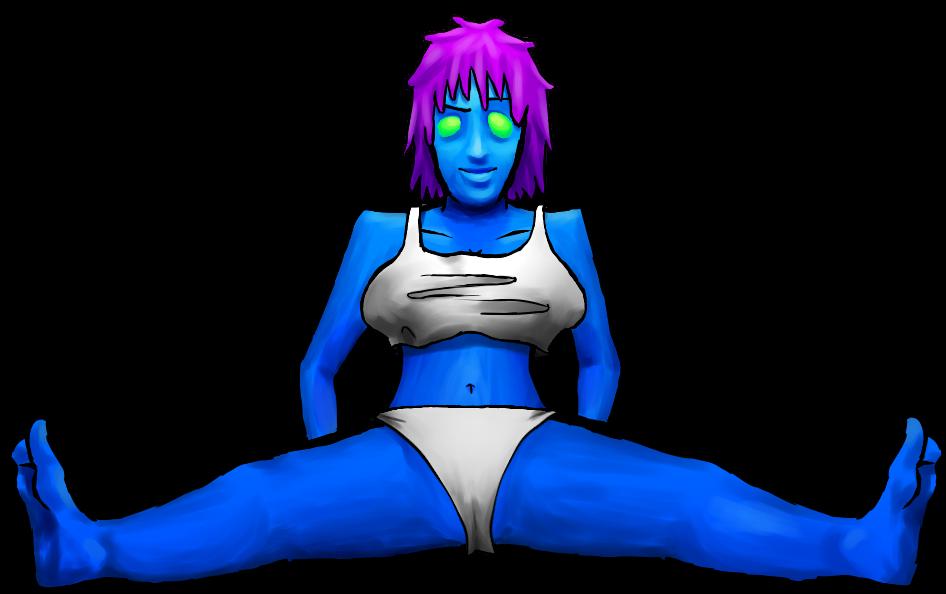 Blue Skin Purple Hair