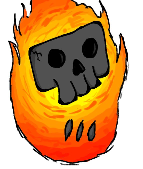 Flaming Skull MK I