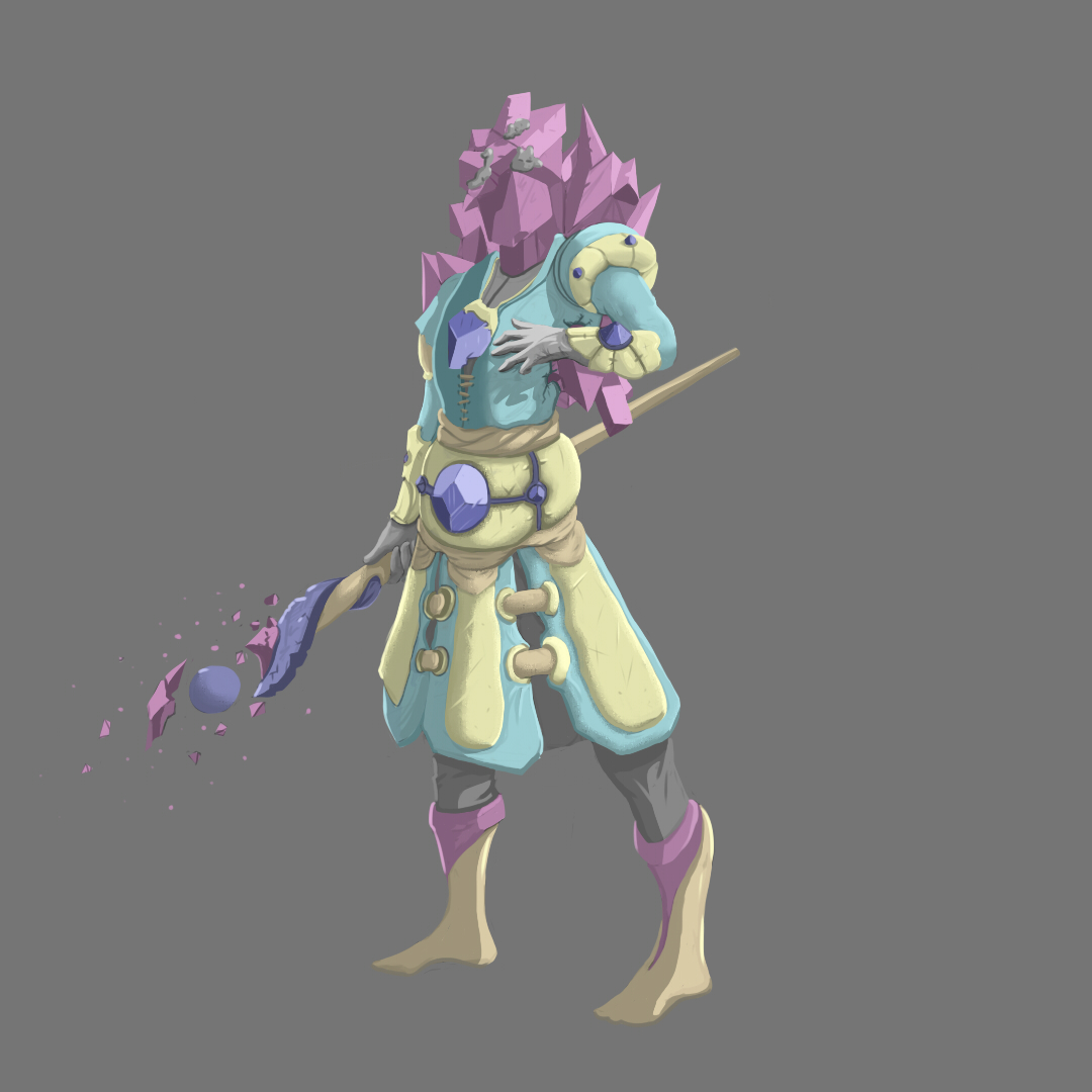Crystal mage concept