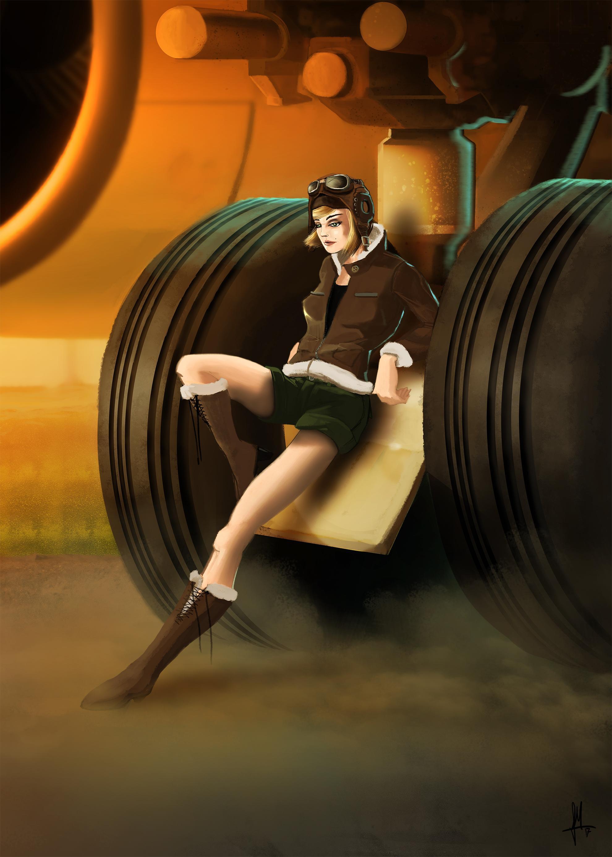pilot army girl