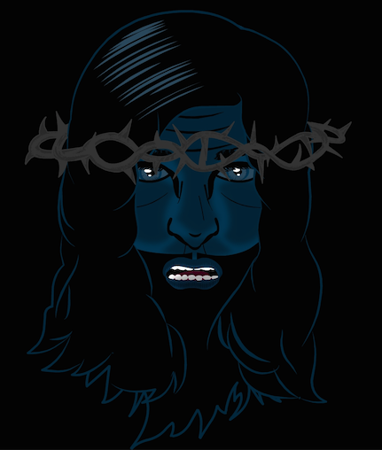 Jesus Christ drawing for animation lyric video 'My Heart Is A Consuming Fire'