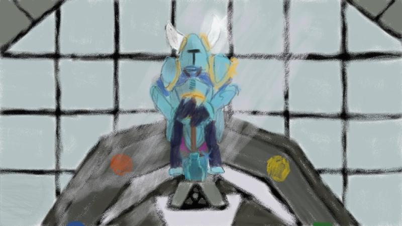 shovel knight zelda cross over doodle.