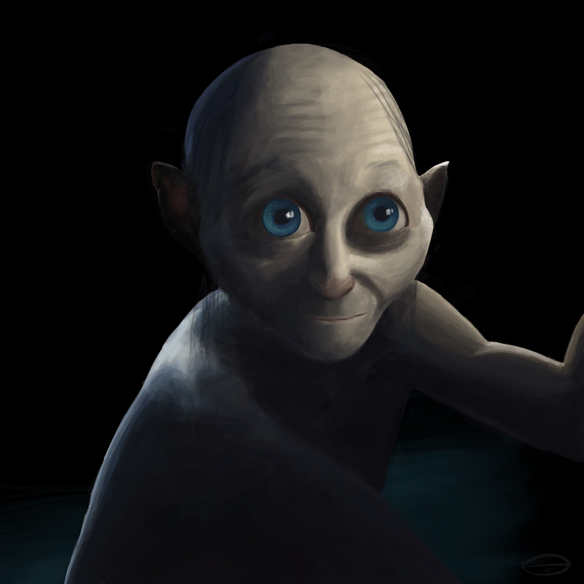 Gollum from the hobbit