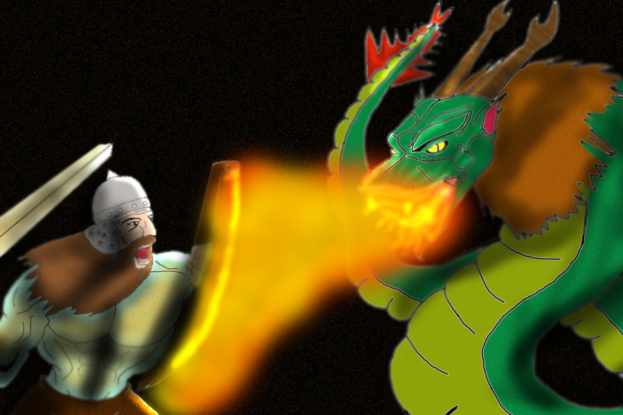 Battle vs the Dragon of the Darkness