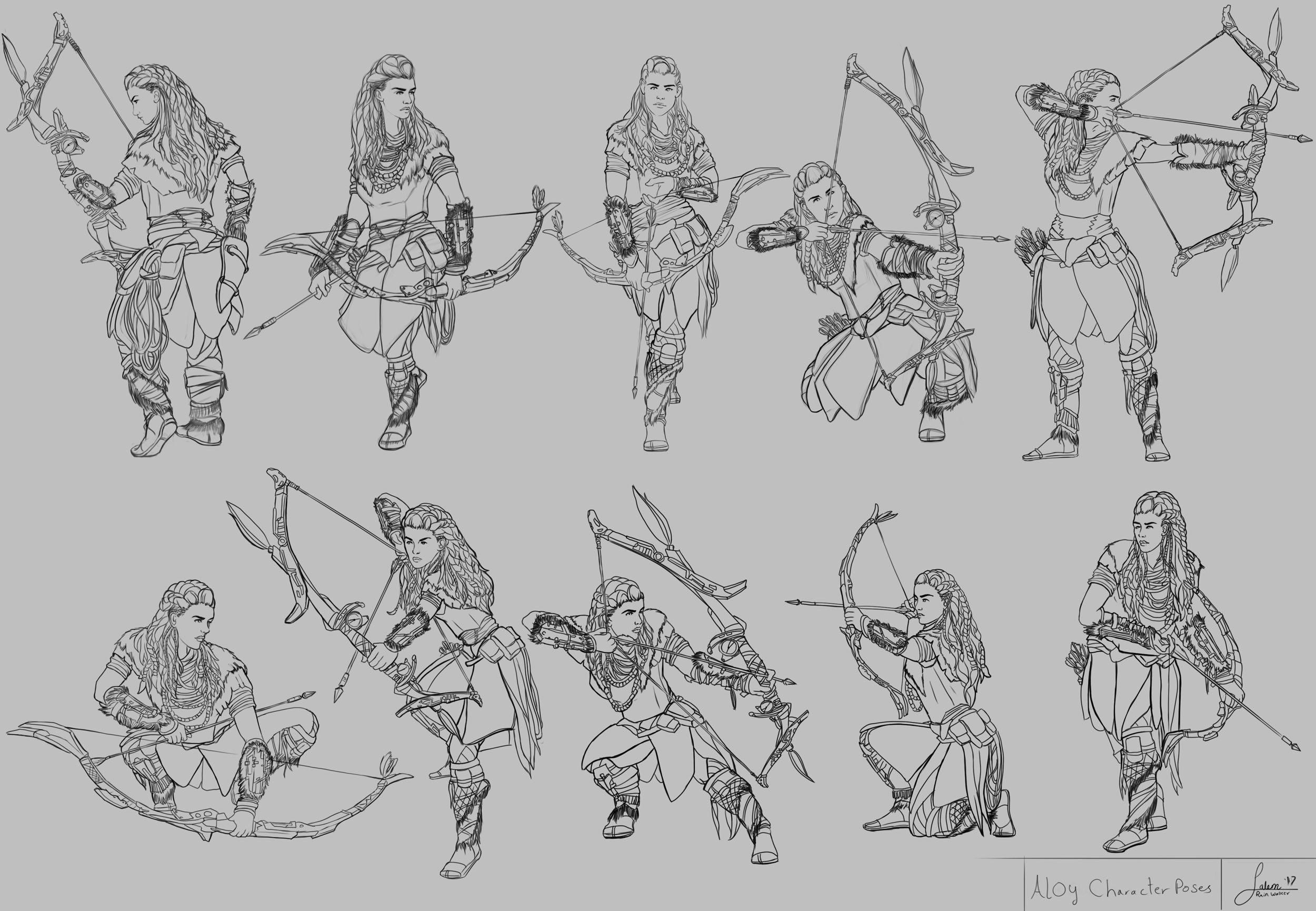 Aloy Character poses (Stage 3)