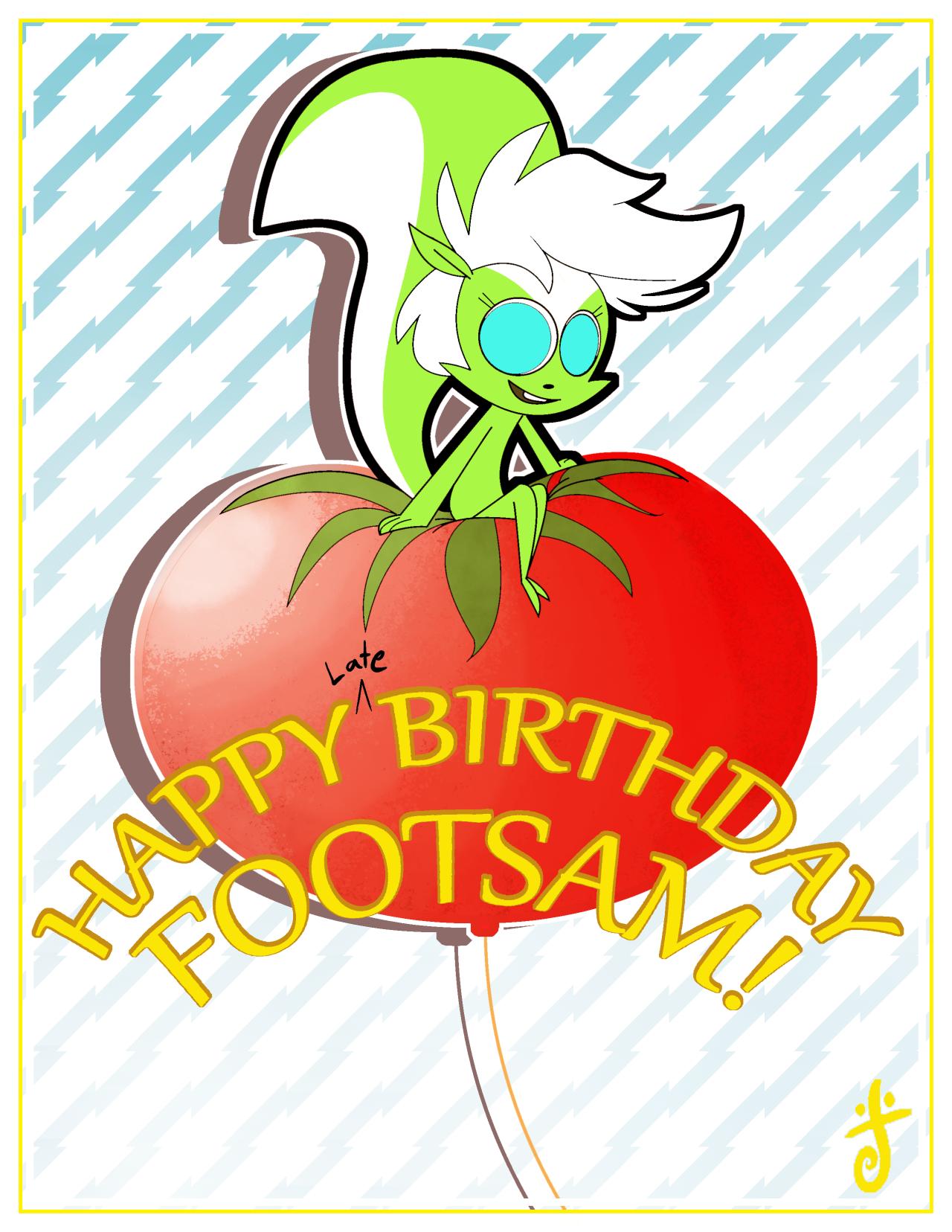 Birthday Fanart for Footsam!