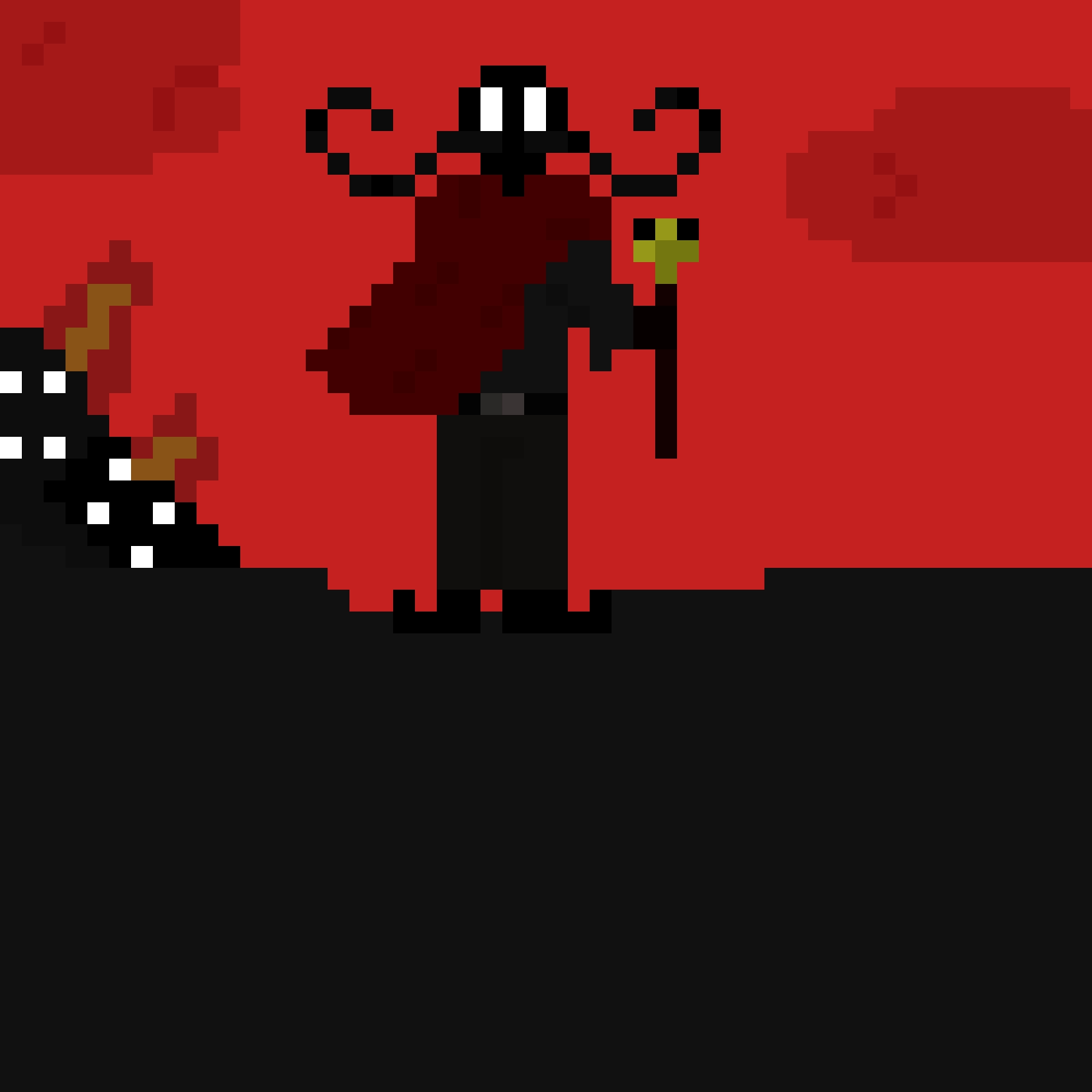 Evil Pixel Mustachio