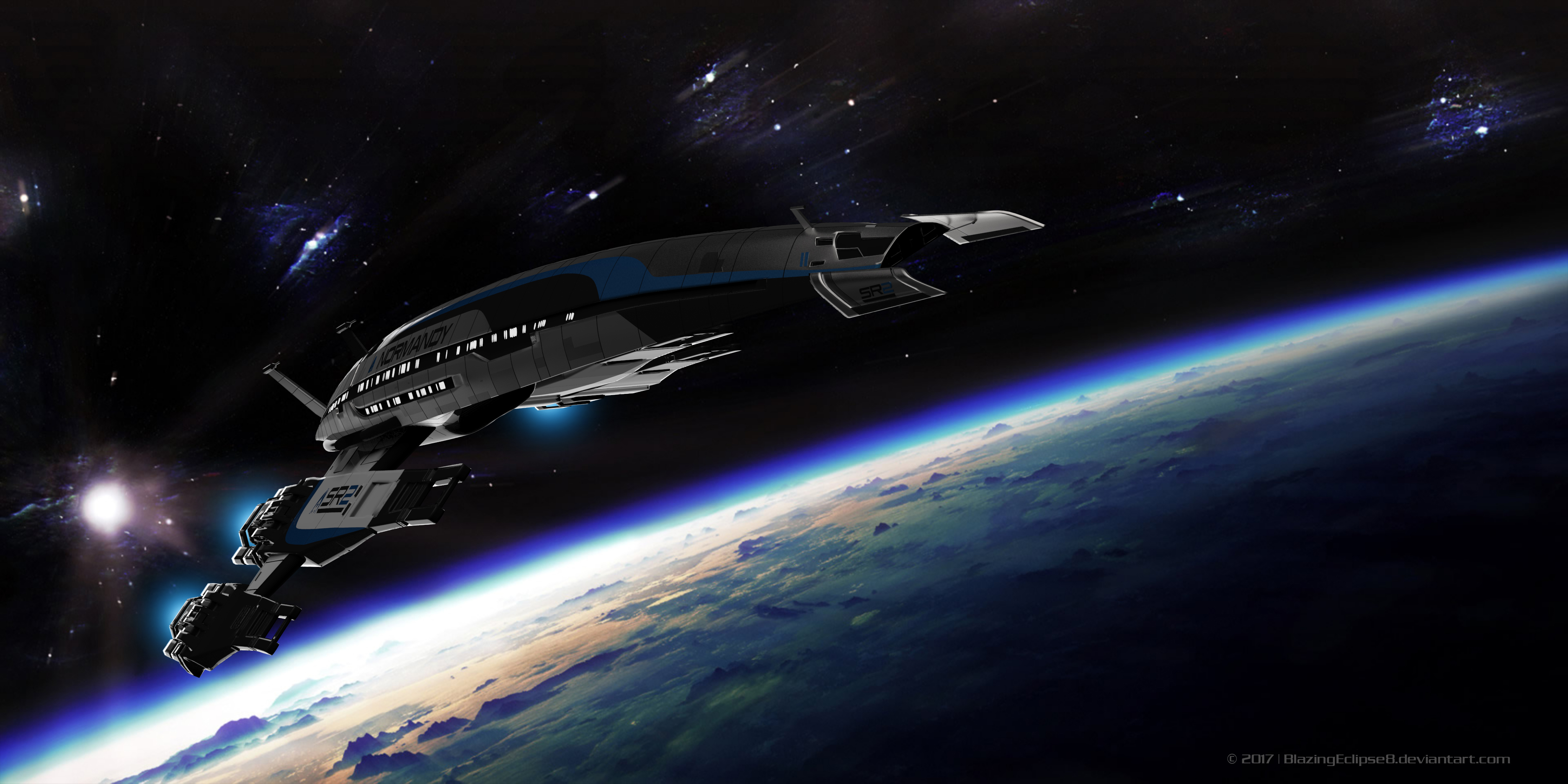 Normandy Earth flyby