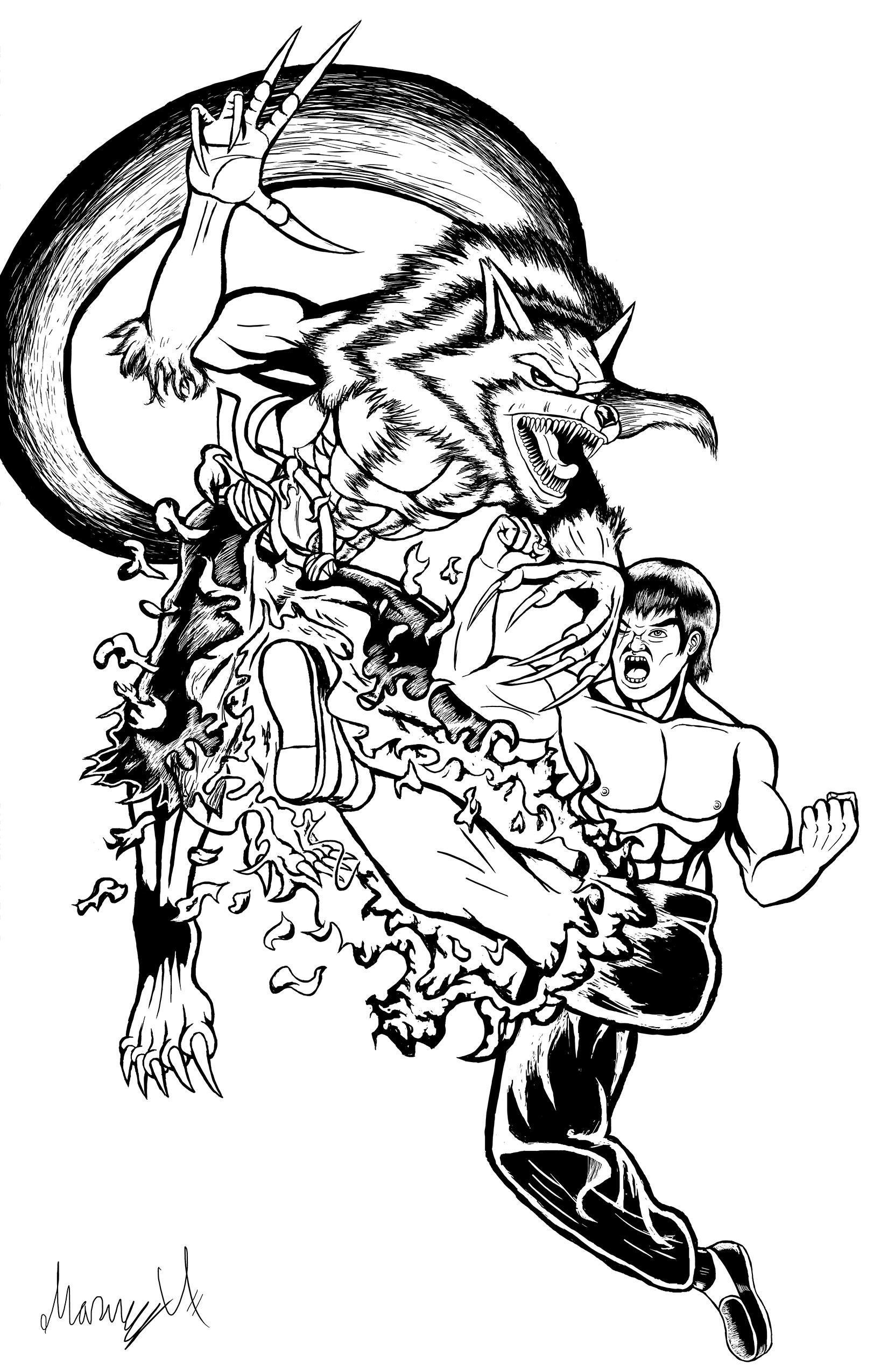 Jon Talbain vs Fei Long Inked