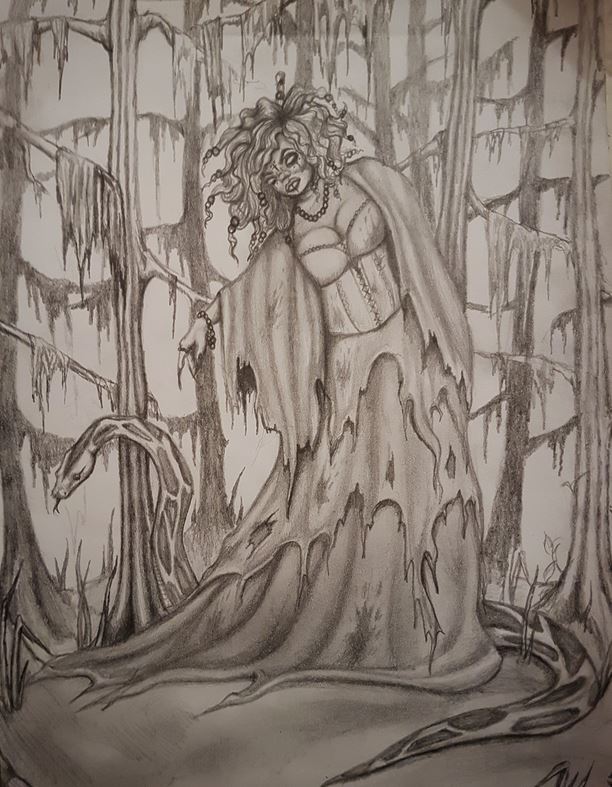 Swamp Witch Sketch