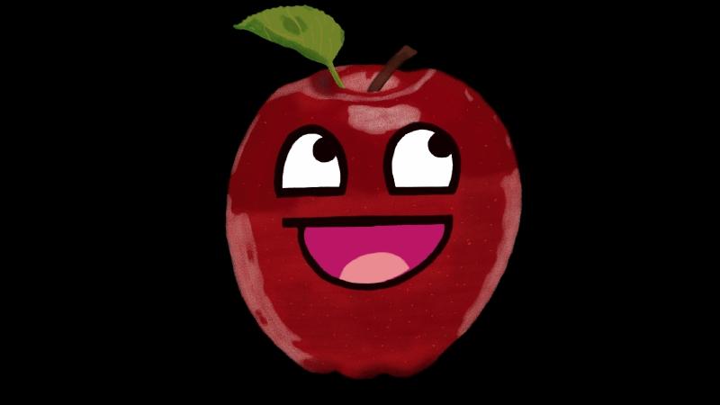 Apple life drawing