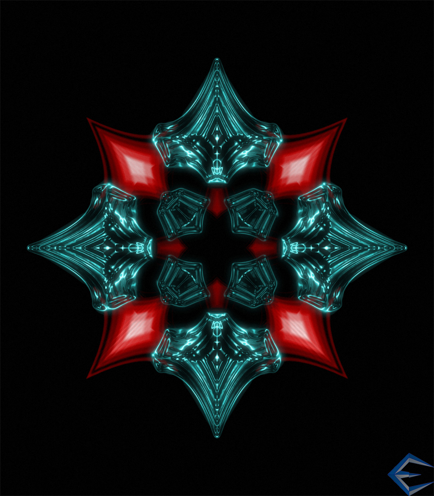 Fire and Ice Snowflake