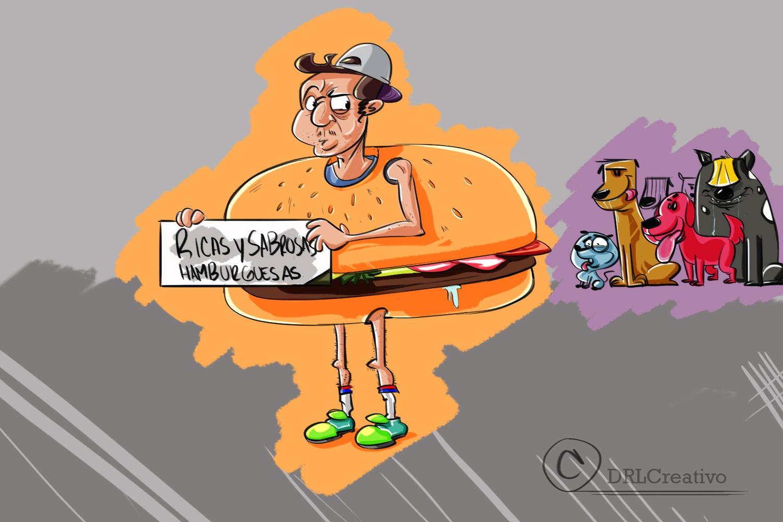 Ricas y sabrosas hamburguesas (humor)
