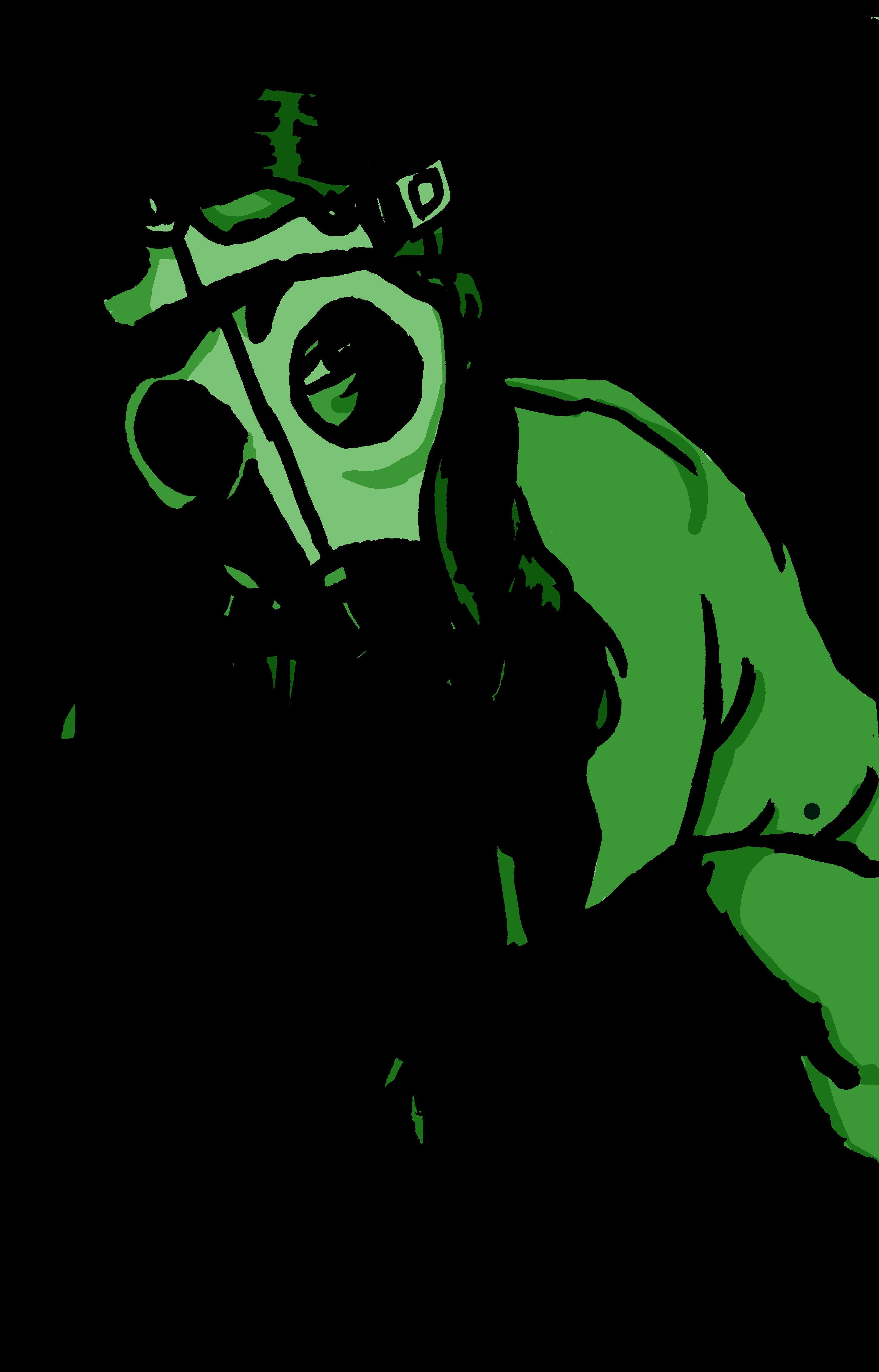 Gas mask girl: green version