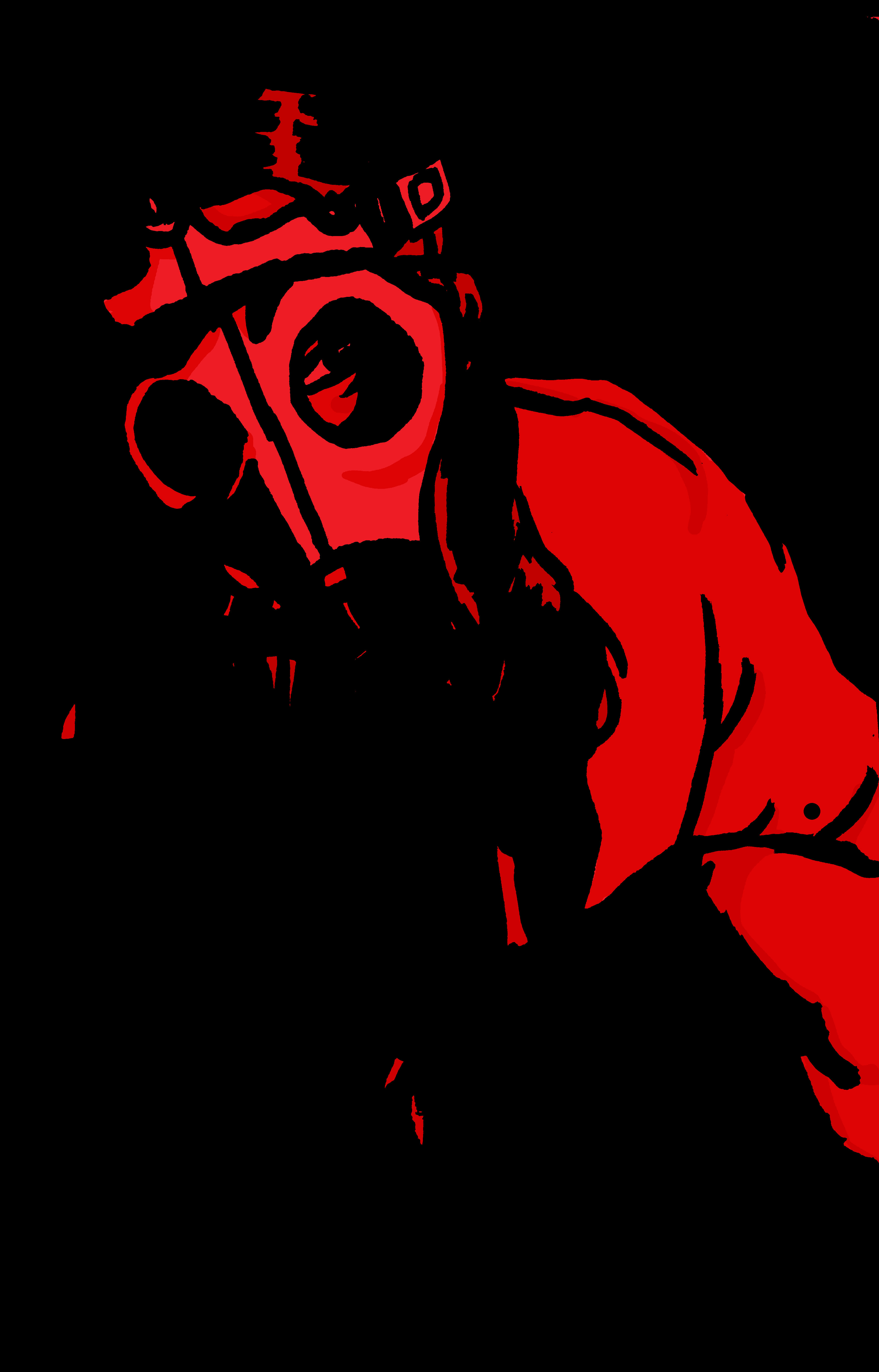 Gas mask girl: red version