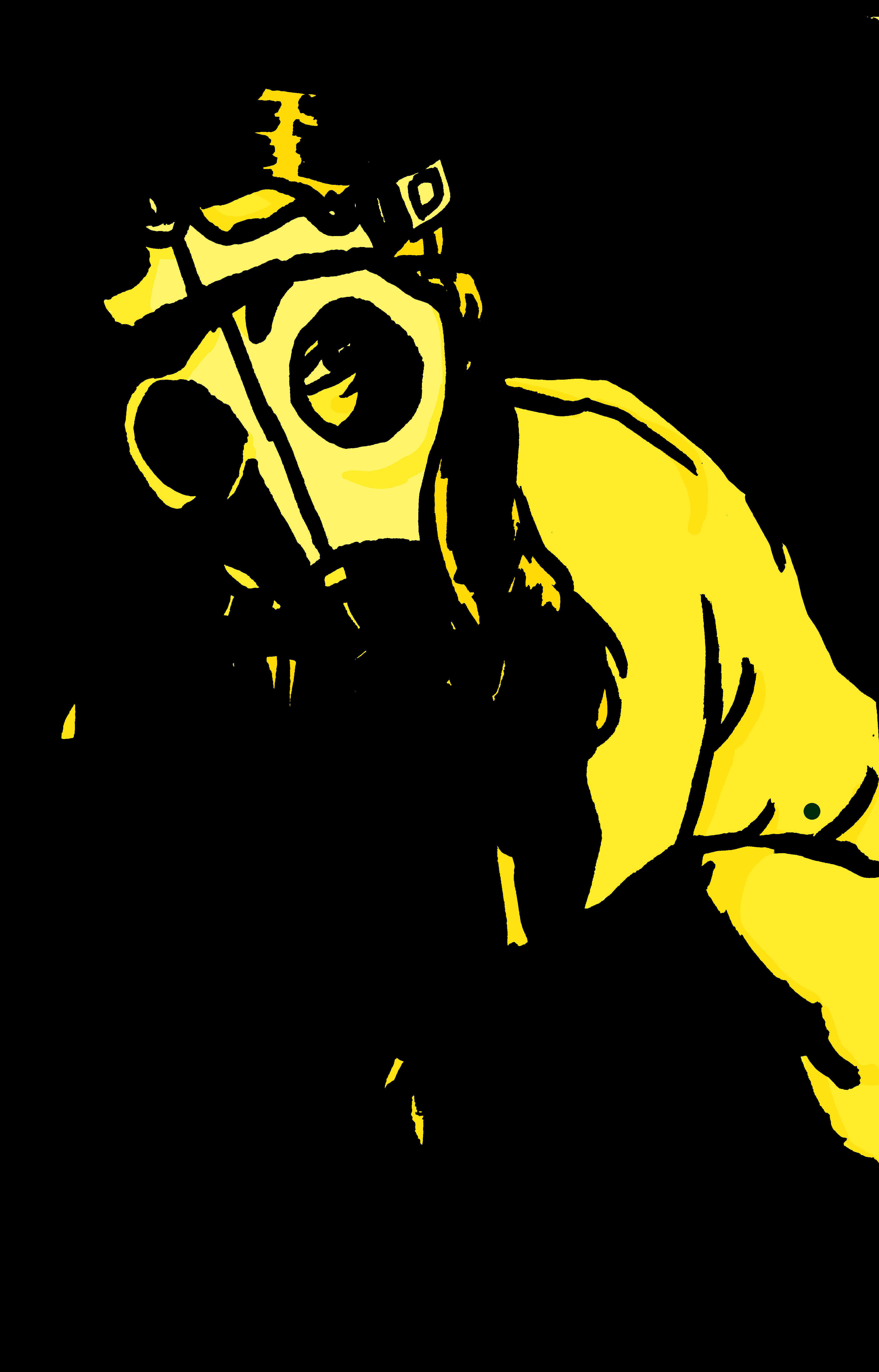 Gas mask girl: yellow version